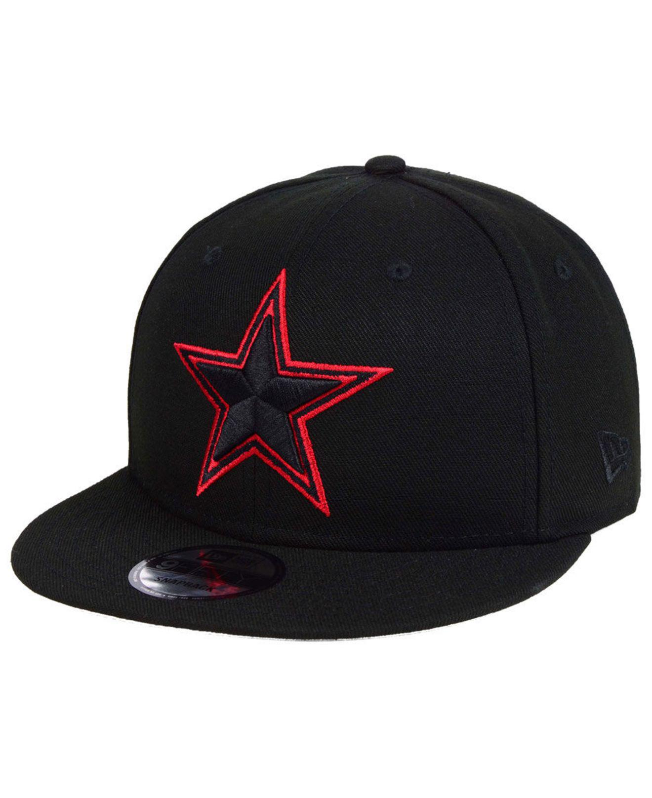7710dc1a44b ... usa ktz. mens black dallas cowboys basic fashion 9fifty snapback cap  00a16 3ab03