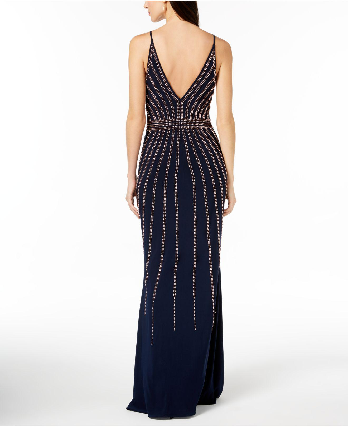 ab1a4f21 Xscape Beaded V-neck Gown in Blue - Save 20% - Lyst