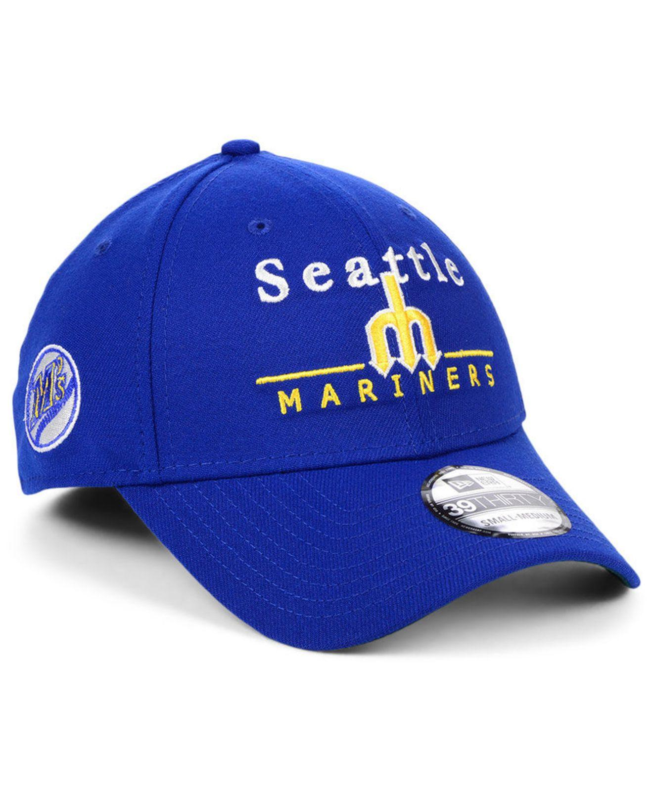 los angeles ef533 8296d KTZ. Men s Blue Seattle Mariners Cooperstown Collection 39thirty Cap