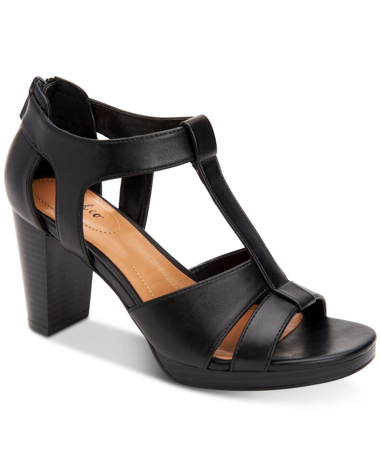 659a049f0d9 Lyst - Style   Co. Ophelia Block-heel Cutout Sandals