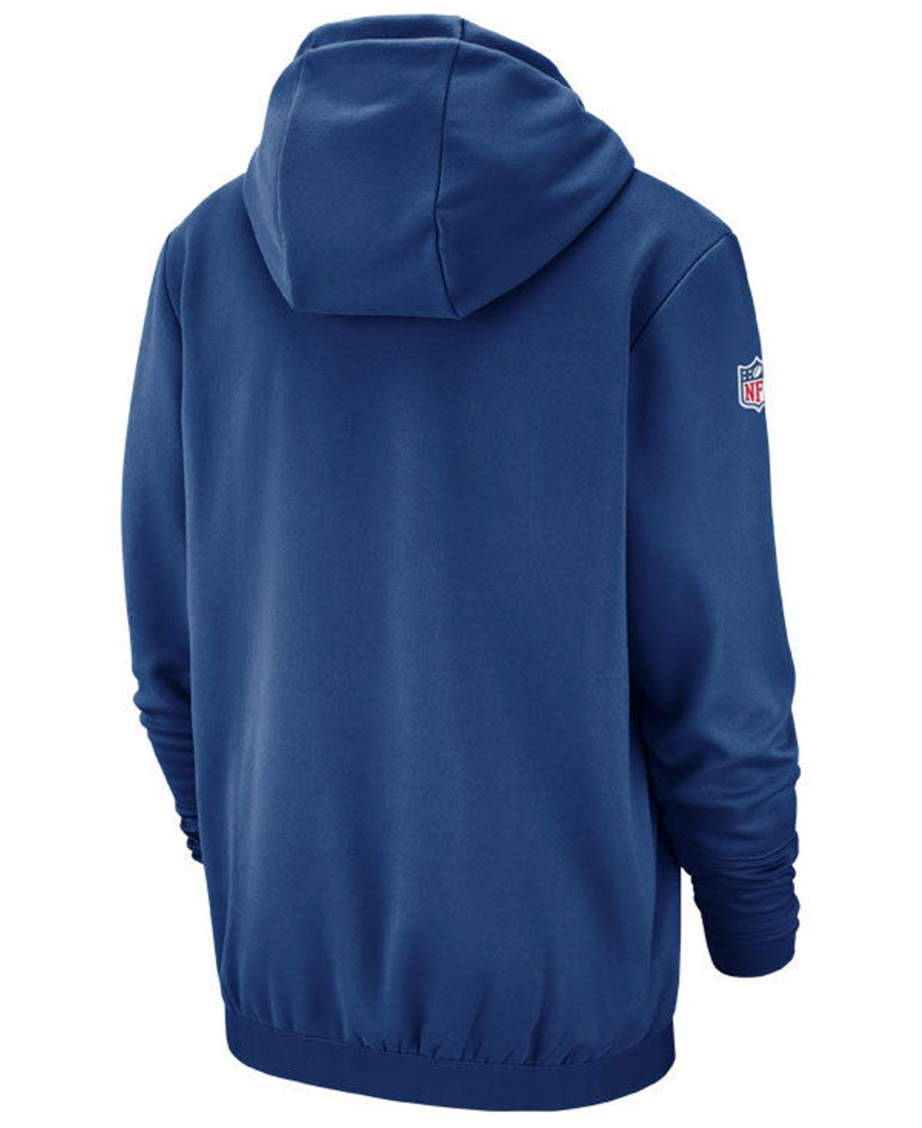 129d81903 Lyst - Nike Indianapolis Colts Sideline Player Local Therma Hoodie in Blue  for Men