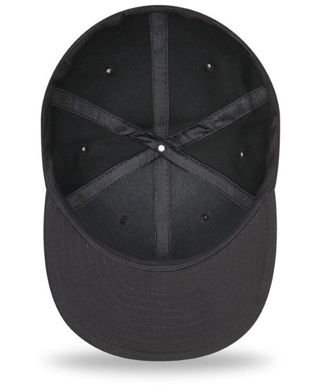 new product 523fe bed89 ... reduced ktz detroit tigers blackout 59fifty fitted cap for men lyst. view  fullscreen c1778 965d9