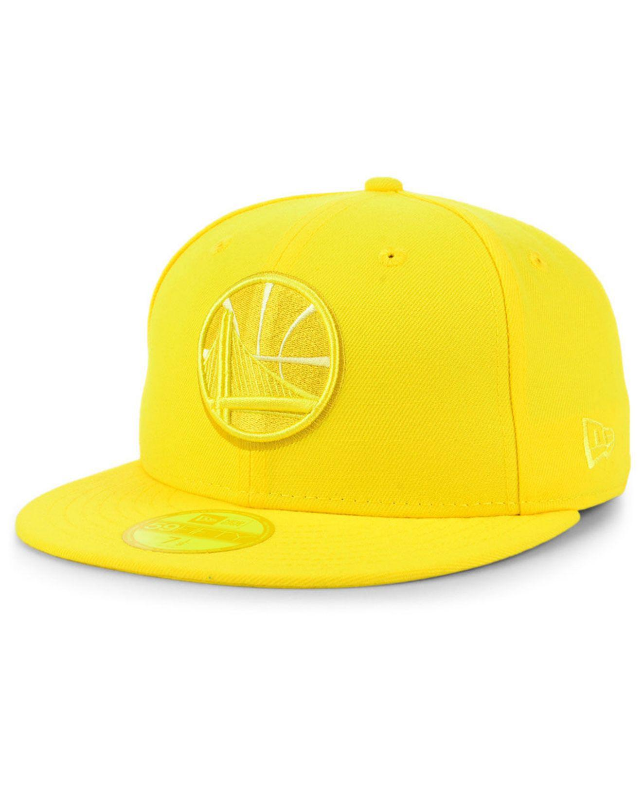 save off b9e87 1e781 KTZ - Yellow Golden State Warriors Color Prism Pack 59fifty Fitted Cap for  Men - Lyst. View fullscreen