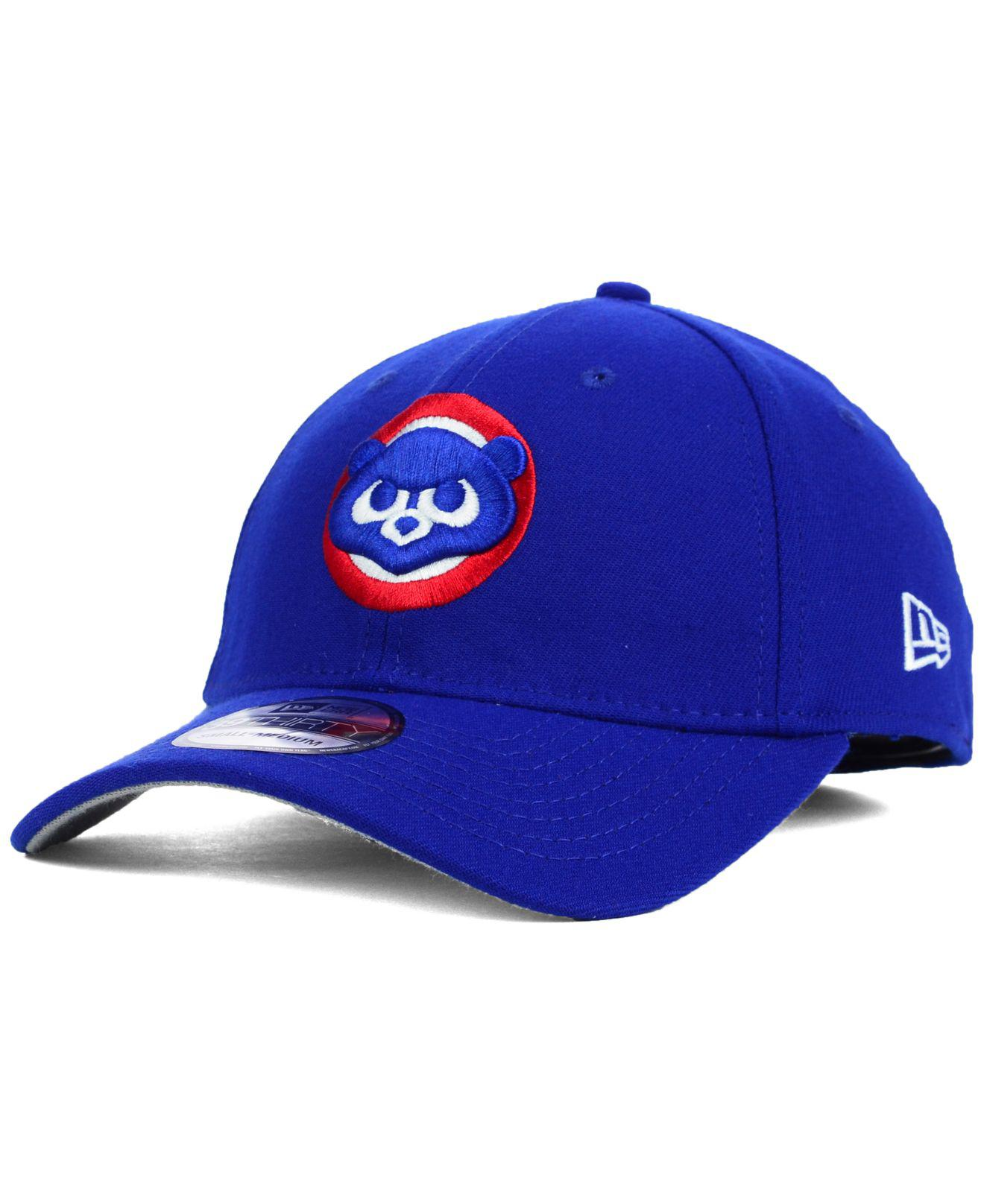 7280311b34b Lyst - KTZ Chicago Cubs Core Classic 39thirty Cap in Blue for Men