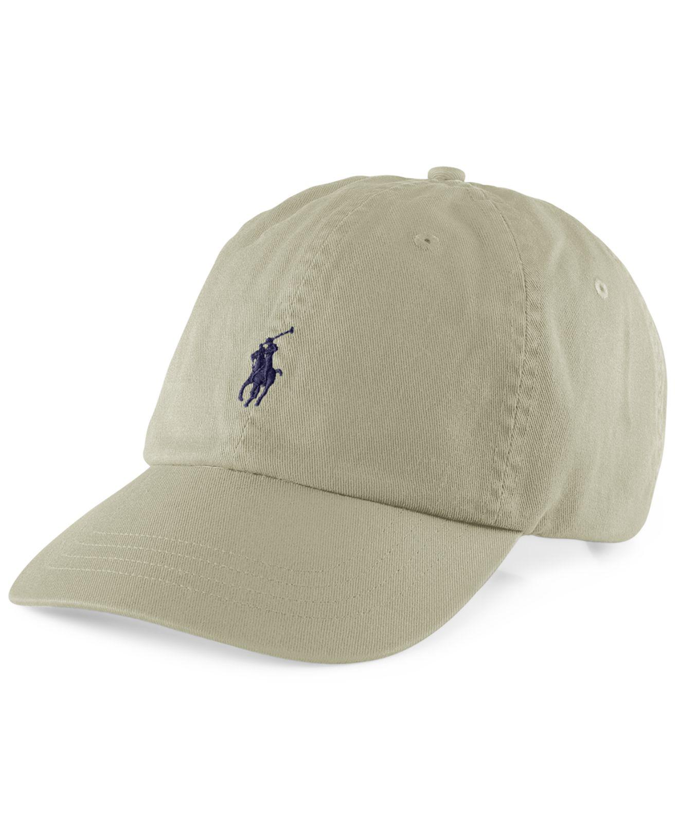 Lyst - Polo Ralph Lauren Classic Sport Cap in Natural for Men 455d728b138