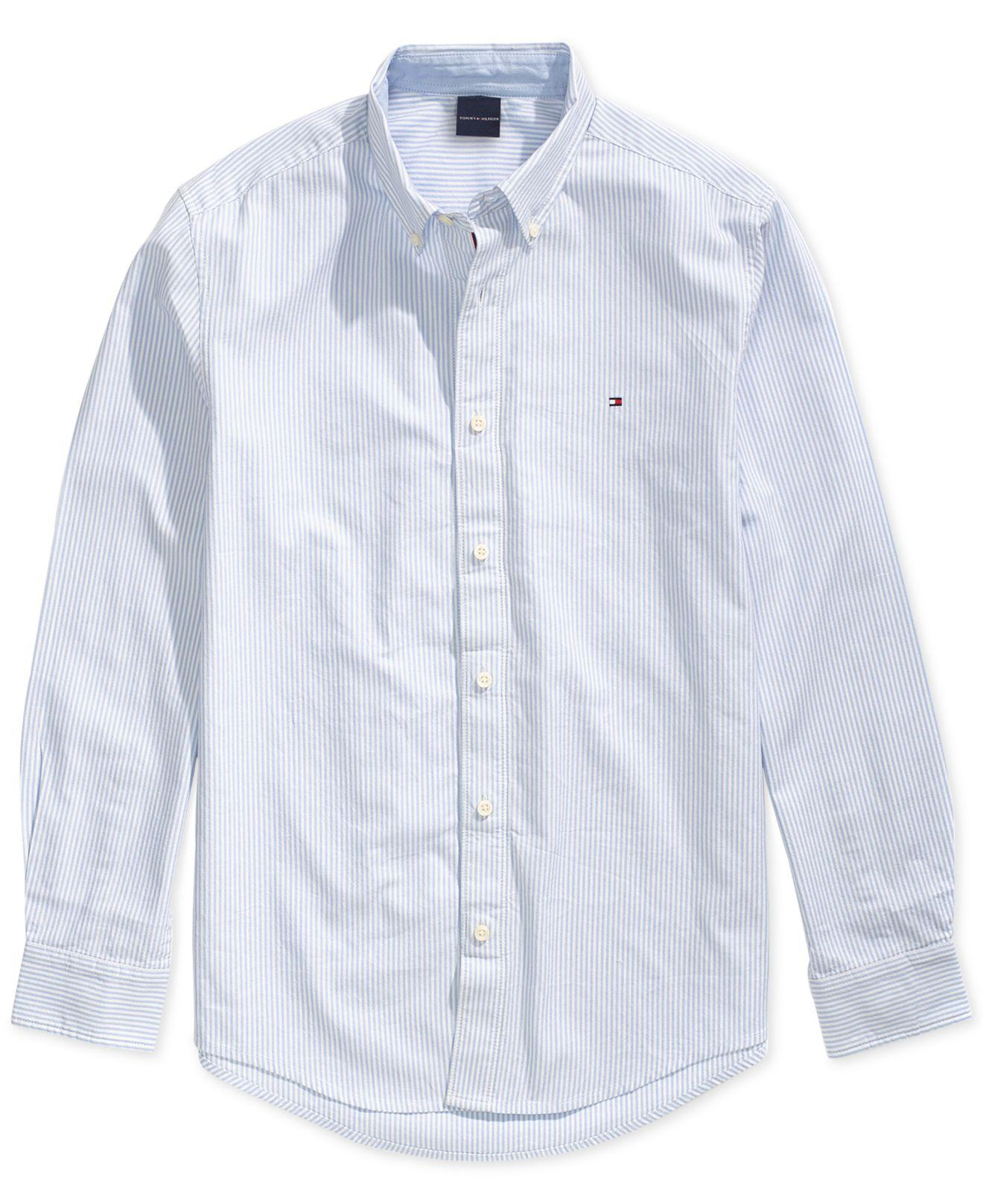 000c59a0227 Lyst - Tommy Hilfiger City Stripe Oxford Shirt With Magnetic Buttons ...