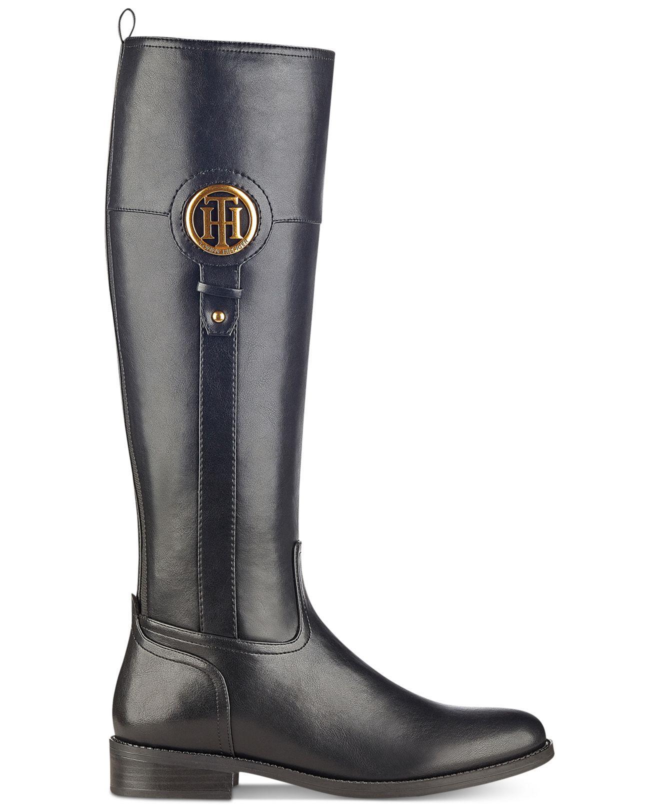 490fdb1c7d3f7e Lyst - Tommy Hilfiger Ilia2 Riding Boots in Black - Save 77%