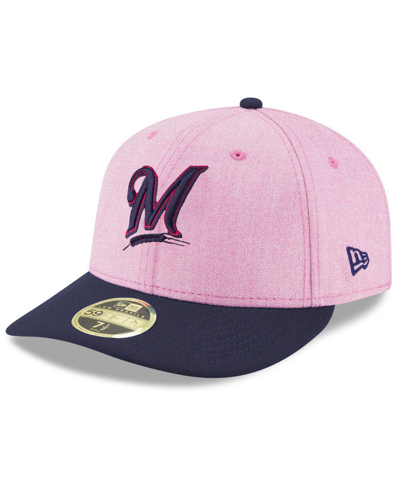 new product 93d55 edea4 Lyst - KTZ Milwaukee Brewers Mothers Day Low Profile 59fifty Fitted ...
