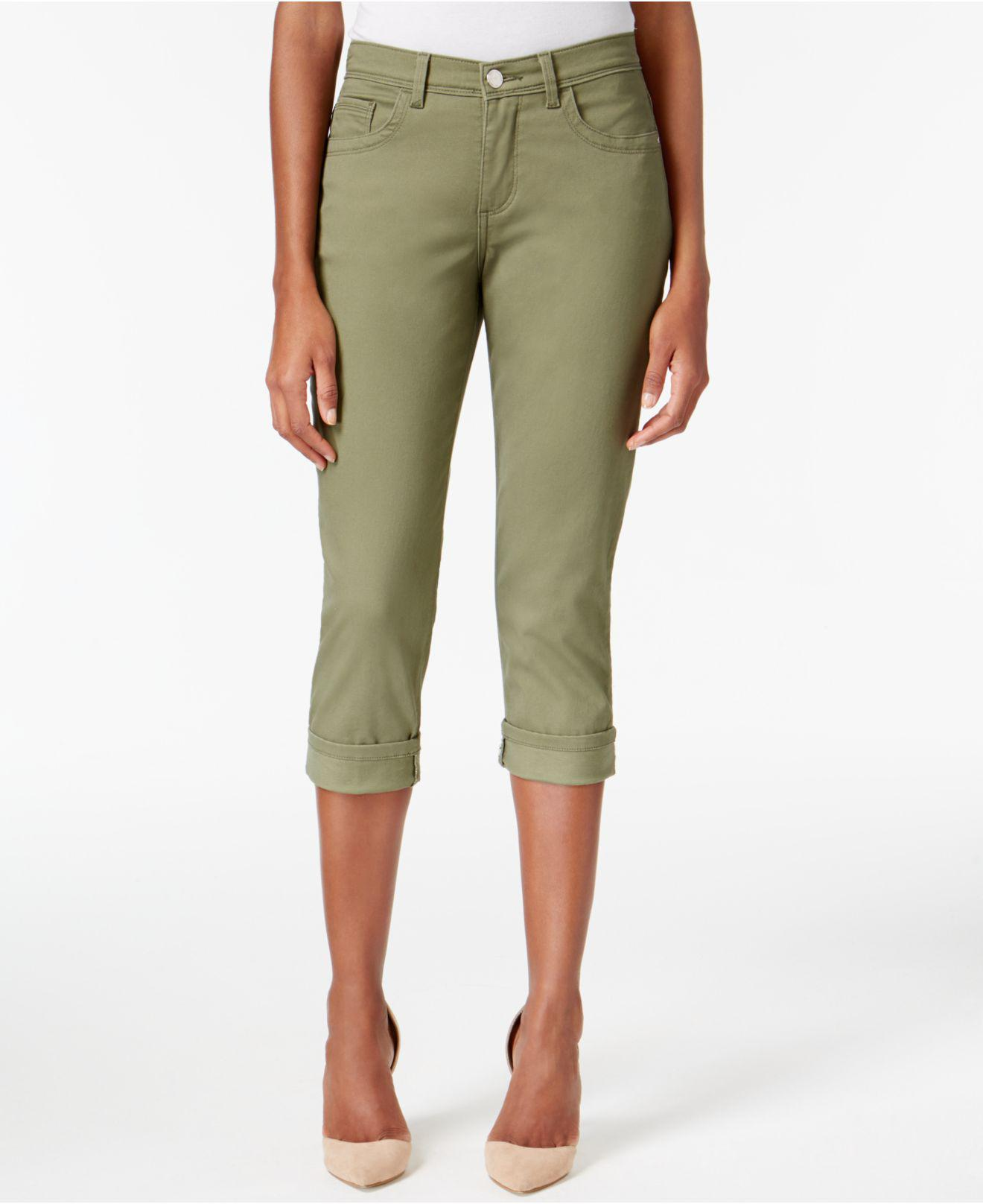 d08eef85 Lyst - Lee Platinum Petite Cameron Stretch Cropped Jeans in Green
