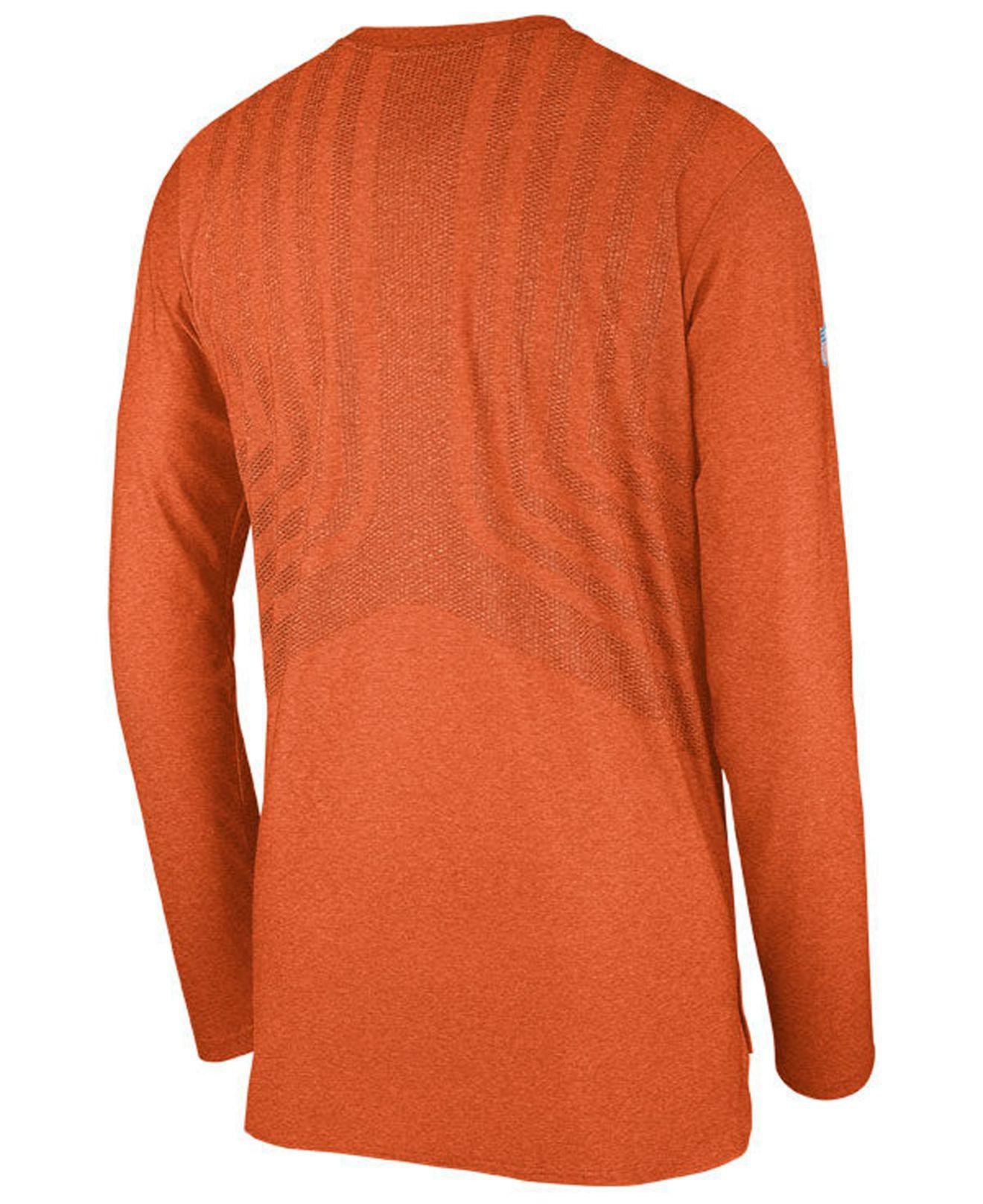 Lyst - Nike Cincinnati Bengals Player Long Sleeve Top in Orange for Men 13f4940c3