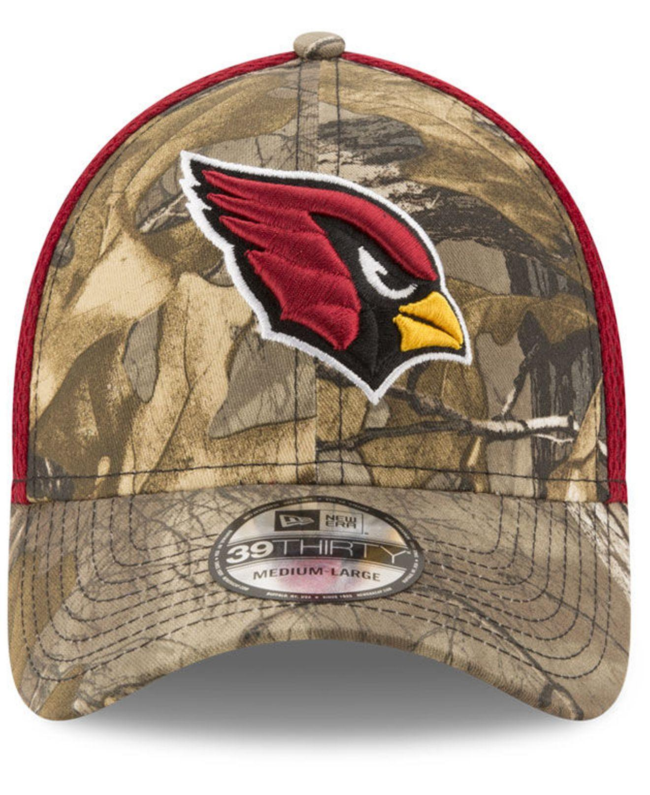 34f5c036397001 ... greece lyst ktz arizona cardinals realtree camo team color neo 39thirty  cap in red for men