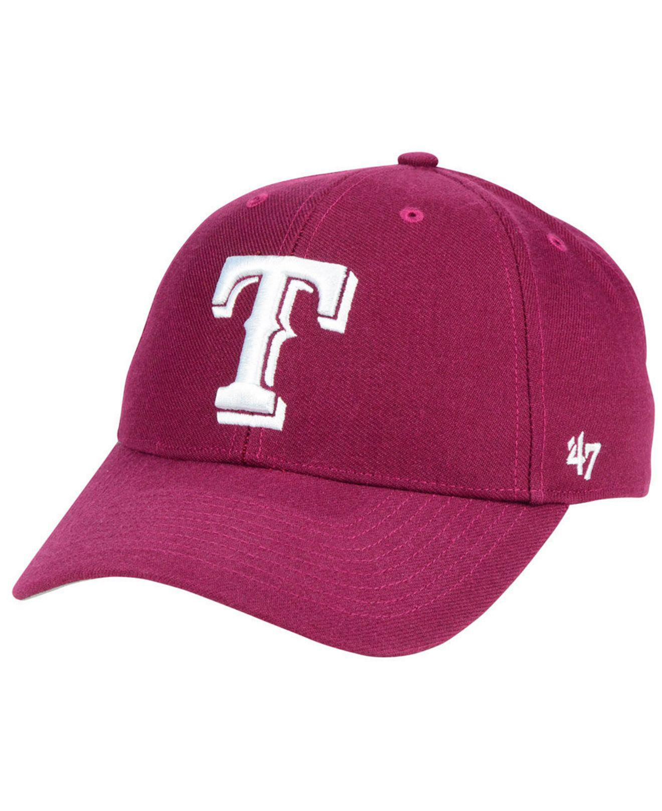 newest a48cb 916c3 ... get lyst 47 brand texas rangers cardinal mvp cap in red for men ad0d0  efe68