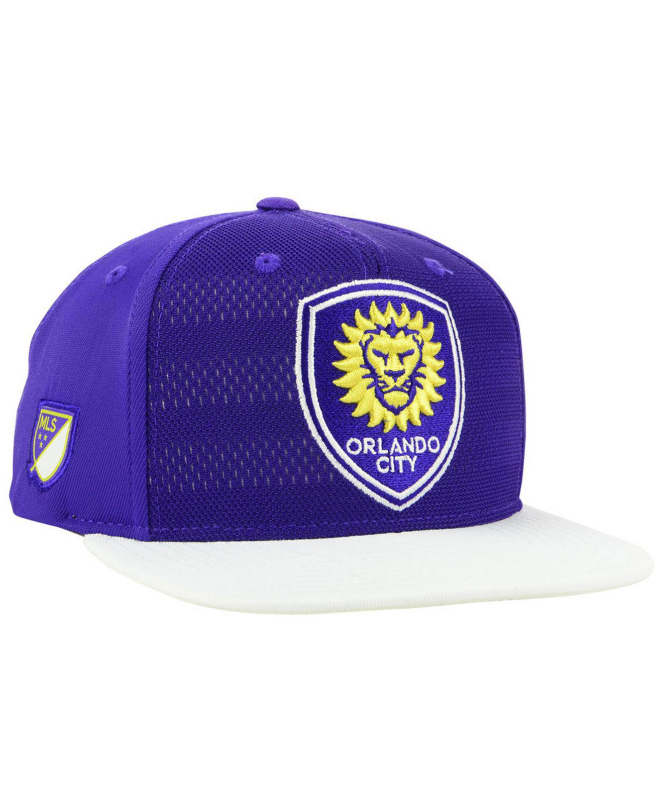 new arrival 2d0d2 a8767 adidas. Men s Purple Orlando City Sc Authentic Snapback Cap