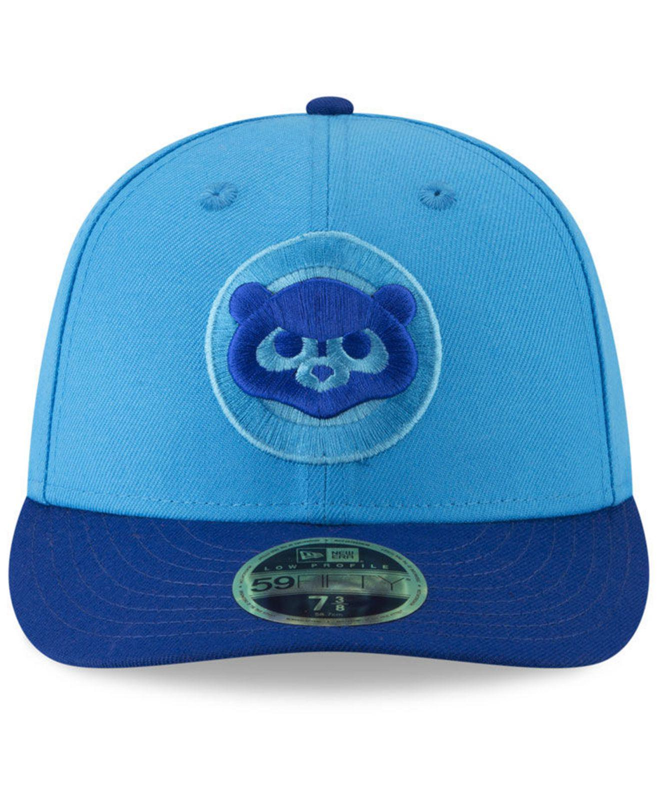 a772e2fdeff Lyst - KTZ Chicago Cubs Players Weekend Low Profile 59fifty Fitted Cap in  Blue for Men