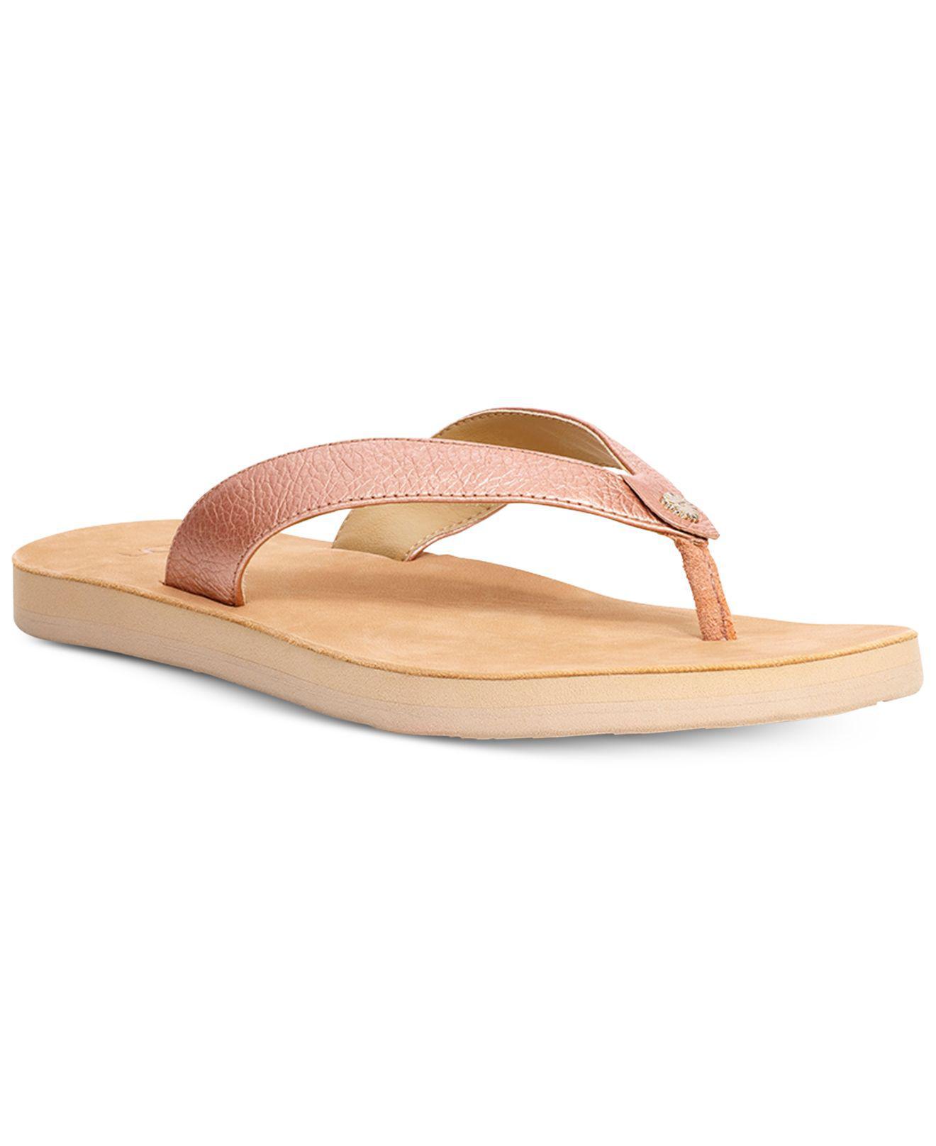 4adfdfaad75c21 Lyst - UGG Tawney Flip-flop Sandals in Pink
