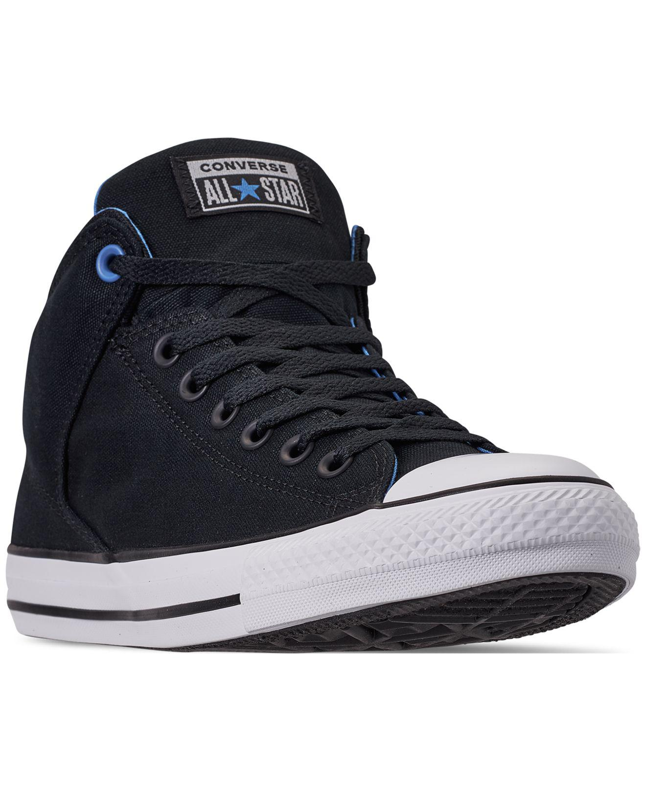 26cbb36f5ecd Converse - Black Chuck Taylor All Star High Street Casual Sneakers From  Finish Line for Men. View fullscreen