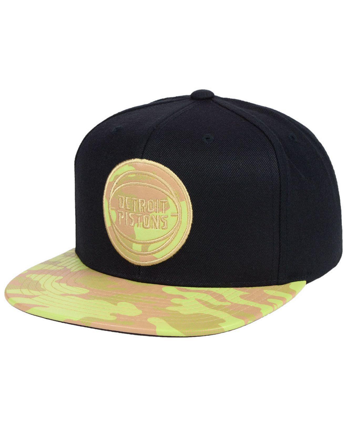 caa84a704 Lyst - Mitchell & Ness Detroit Pistons Natural Camo Snapback Cap for Men