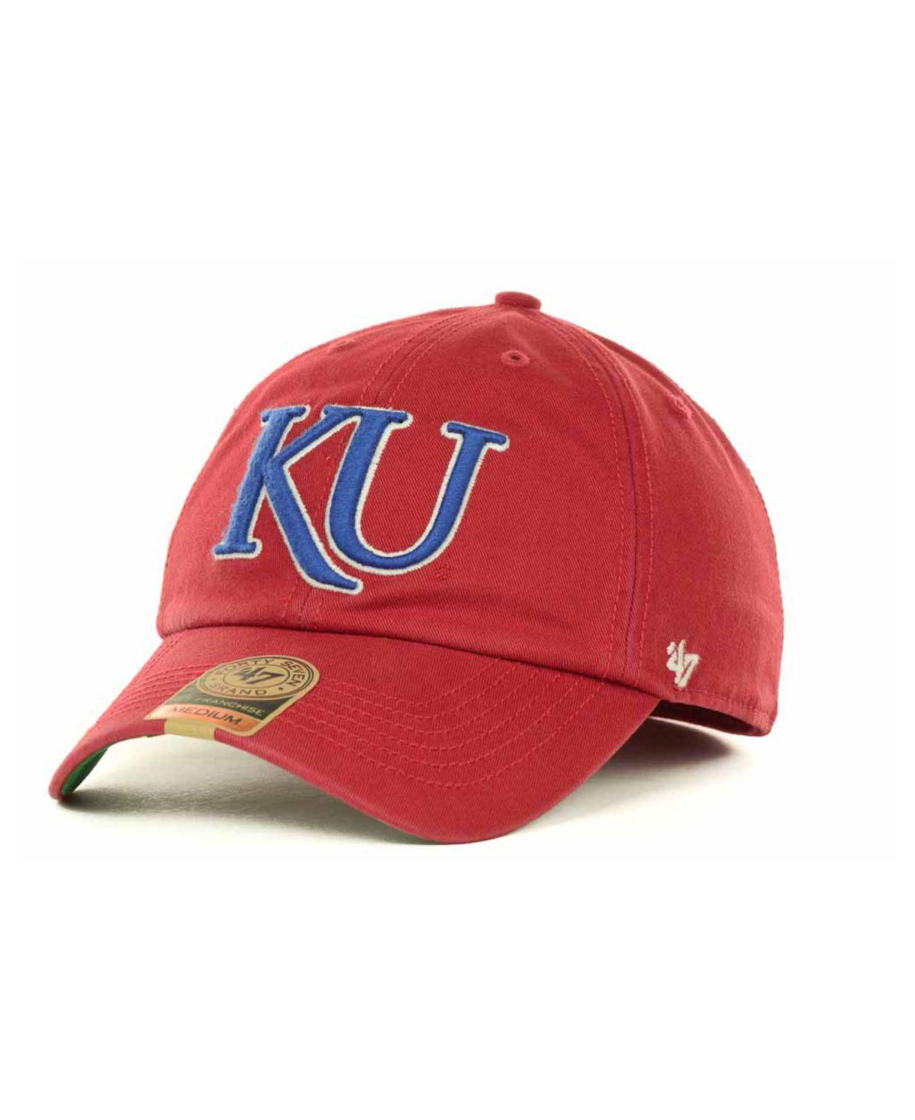ebe1d194d0b28 Lyst - 47 Brand Kansas Jayhawks Franchise Cap in Red for Men