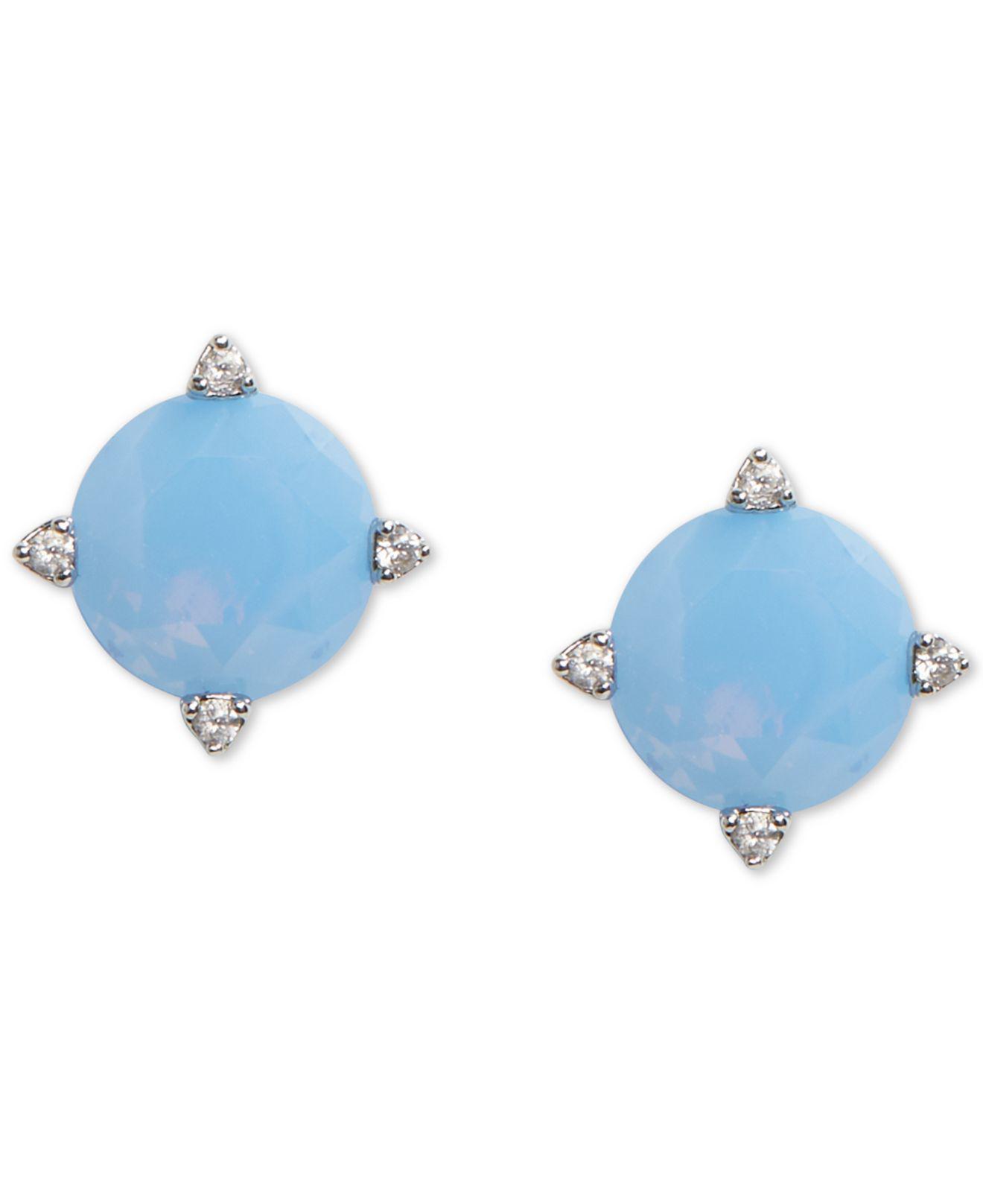 e20337f458e7e Vera Bradley Sparkling Stud Earrings in Blue - Lyst