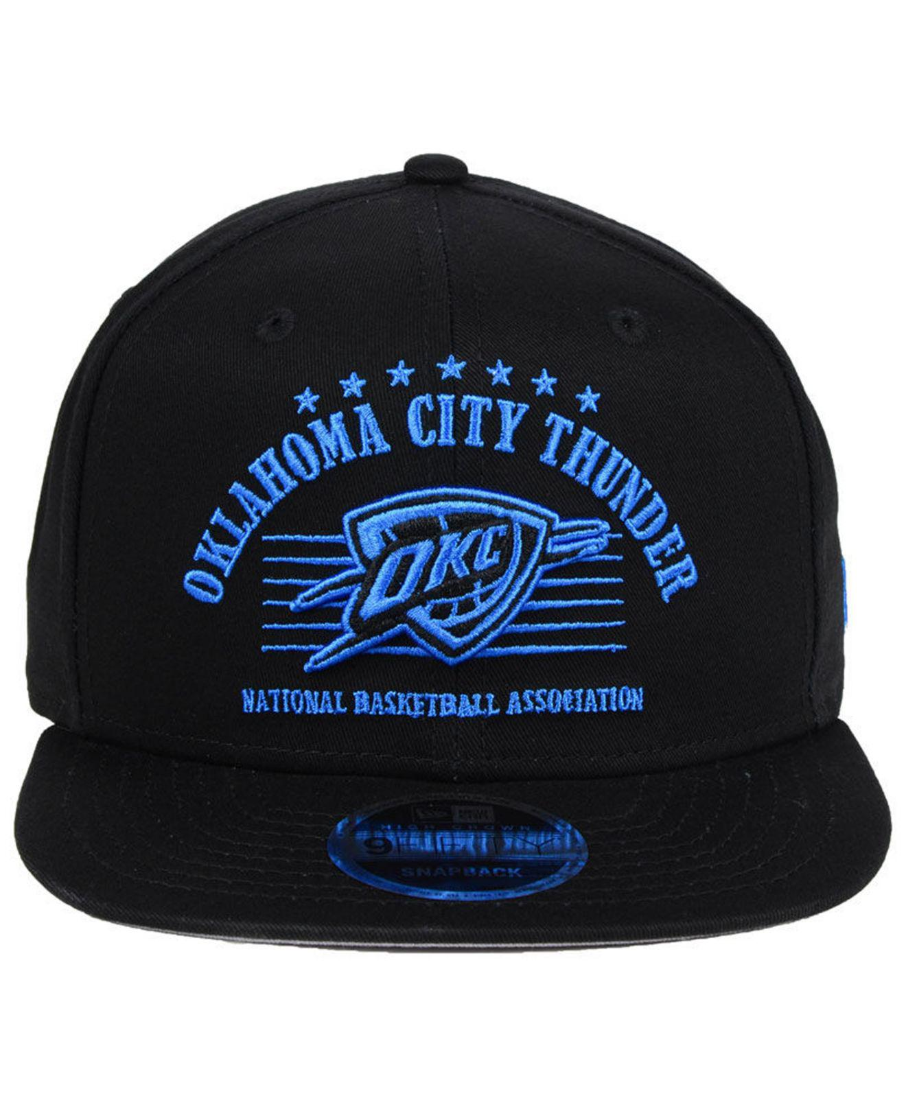 premium selection 92ecf 42708 ... authentic lyst ktz oklahoma city thunder retro arch 9fifty snapback cap  in black for men 35b4f
