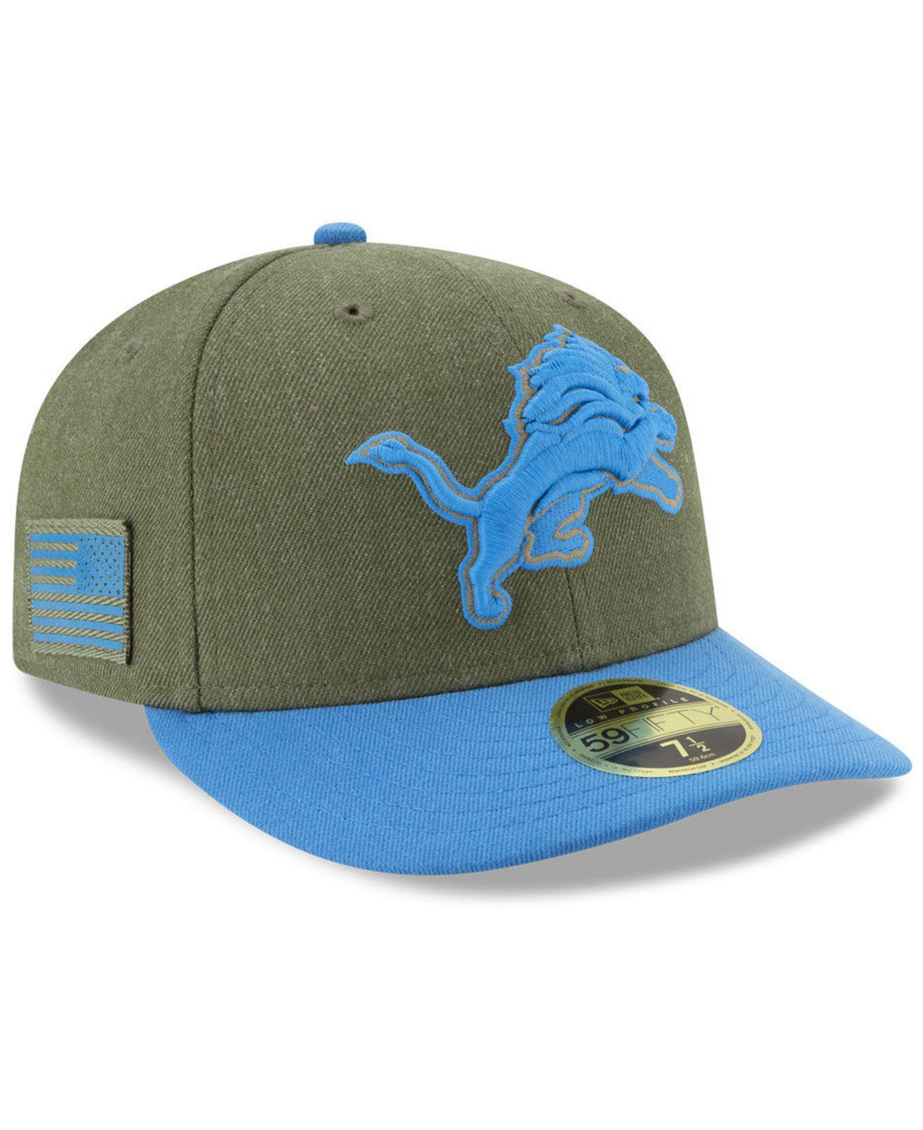 Lyst - KTZ Detroit Lions Salute To Service Low Profile 59fifty ... a0a1707a8