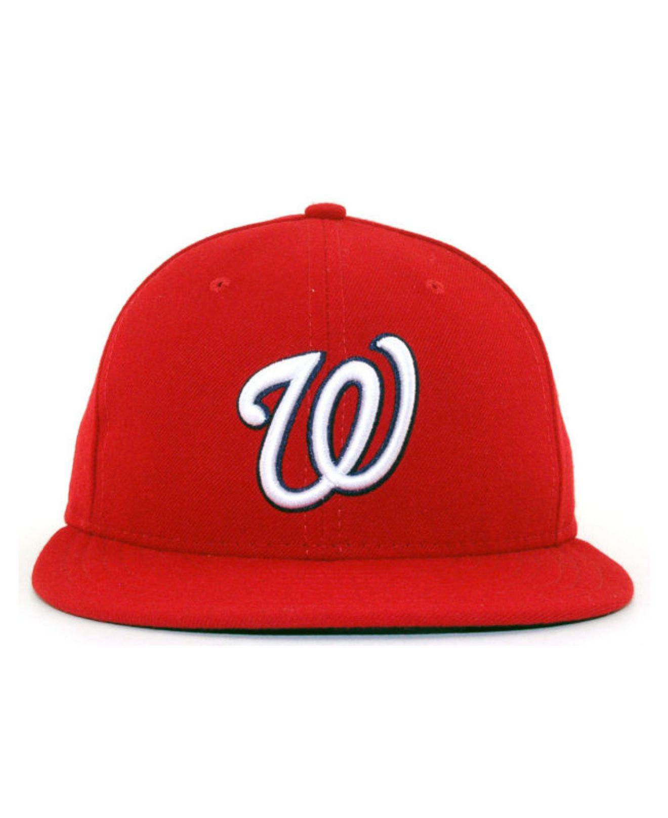 a97a05b5 Lyst - KTZ Washington Nationals Mlb Authentic Collection 59fifty Cap in Red  for Men