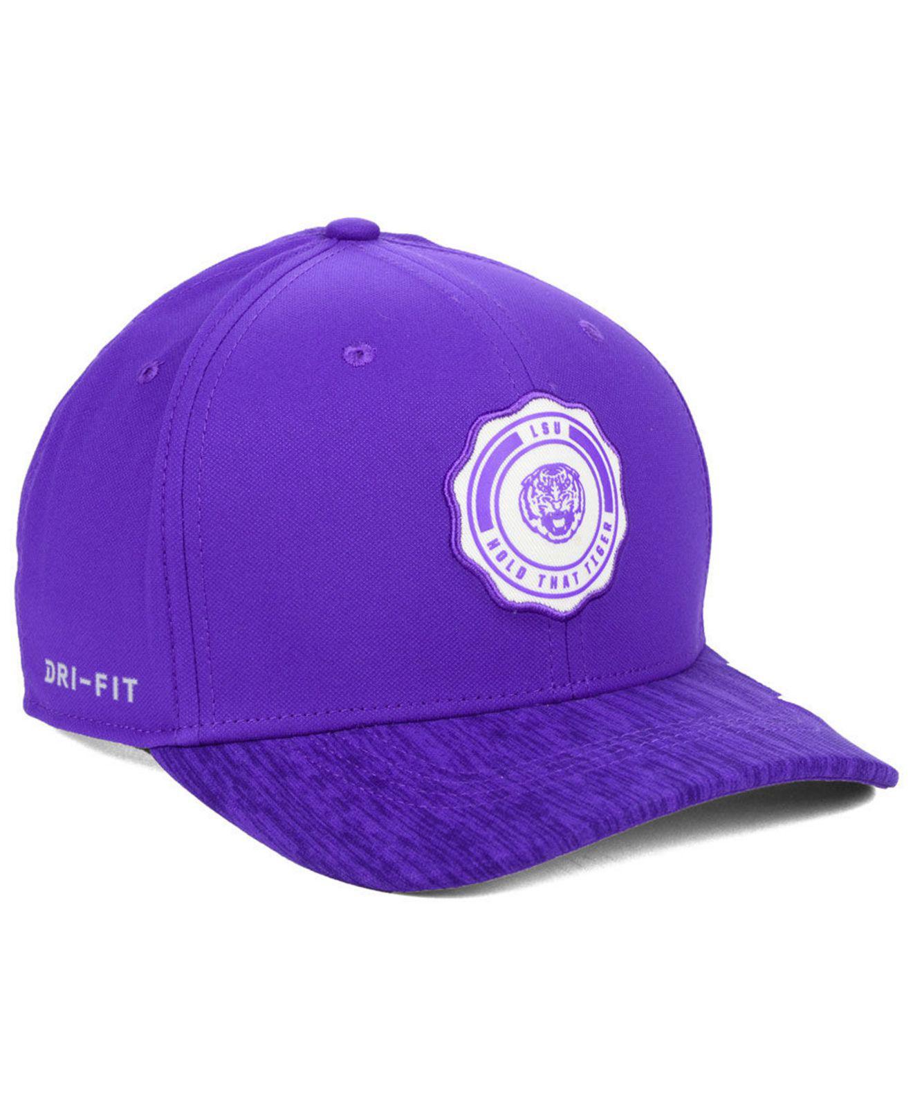 quite nice 2b298 7fe52 Nike - Purple Lsu Tigers Rivalry Swooshflex Stretch Fitted Cap for Men -  Lyst. View fullscreen