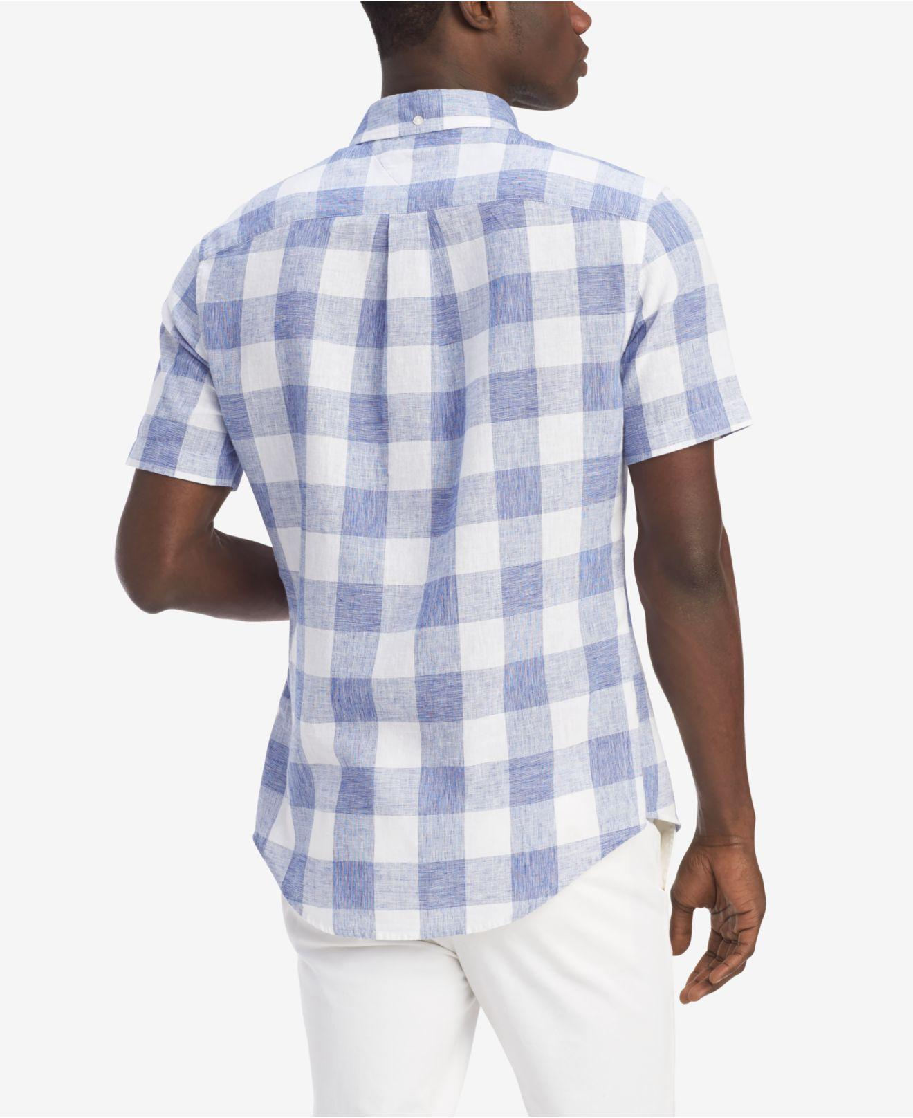 93d8207e Lyst - Tommy Hilfiger Sutter Check Shirt in Blue for Men