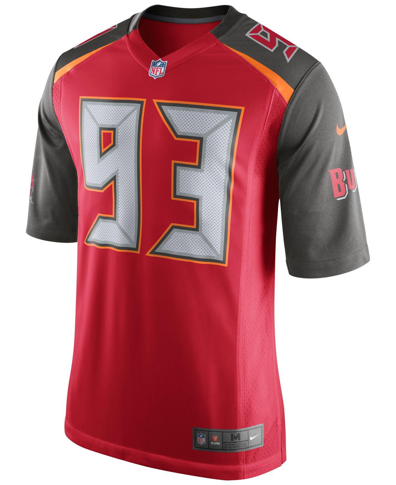 74558b5bf Lyst - Nike Men s Gerald Mccoy Tampa Bay Buccaneers Game Jersey in Red for  Men