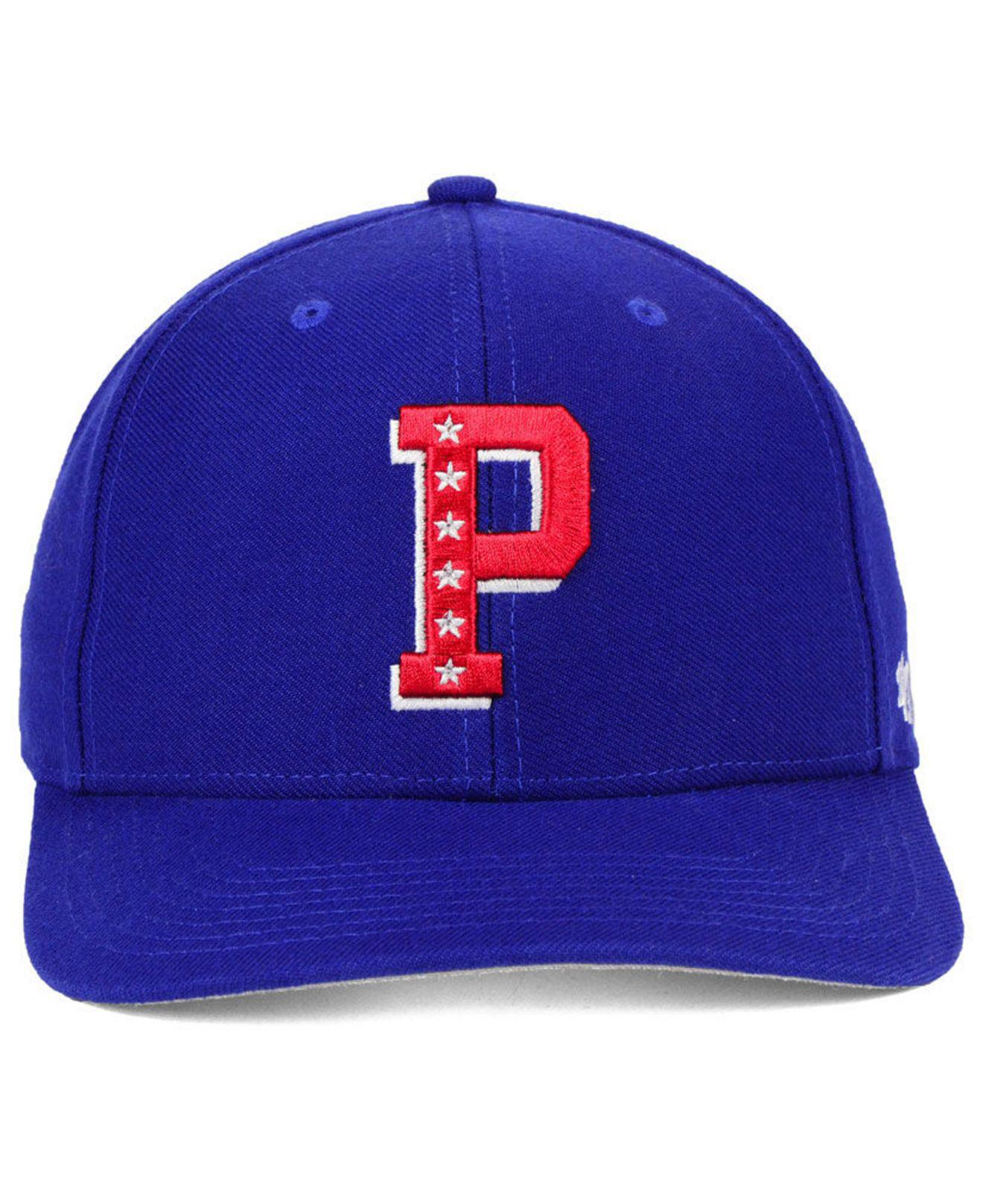 finest selection 804c2 11fab ... amazon lyst 47 brand philadelphia 76ers mash up mvp cap in blue for men  bcfda ecebd