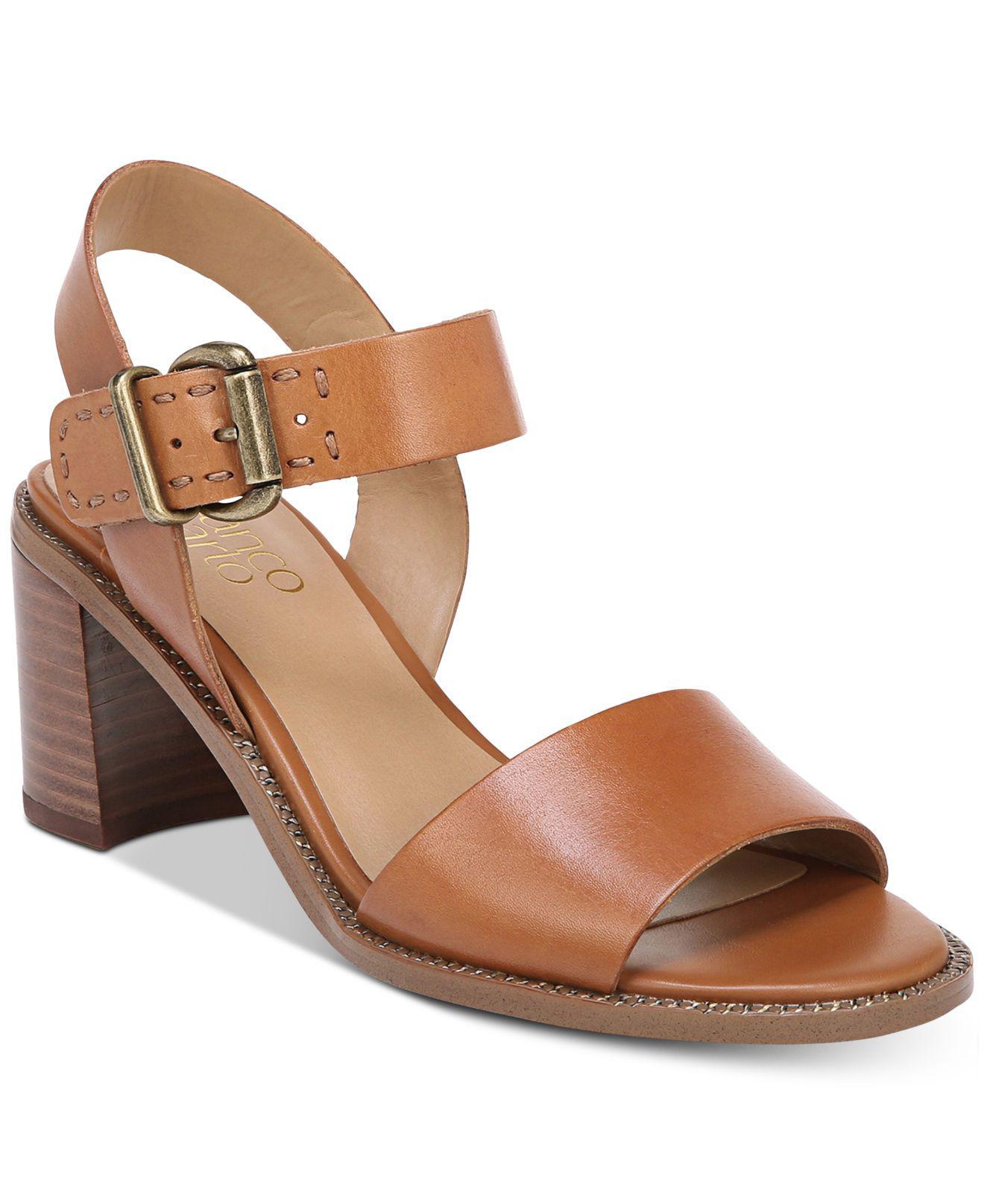 Franco Sarto Havana Block-Heel Dress Sandals Women's Shoes mVaX7pT