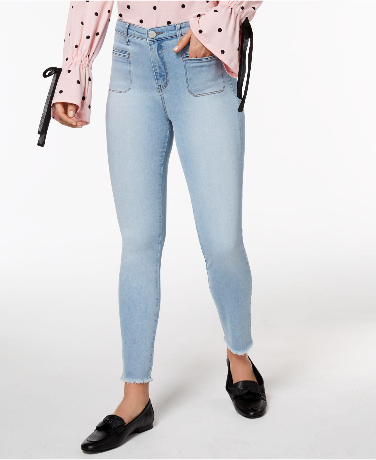 92d44f312cd Maison Jules Frayed Skinny Jeans, Created For Macy's in Blue - Lyst