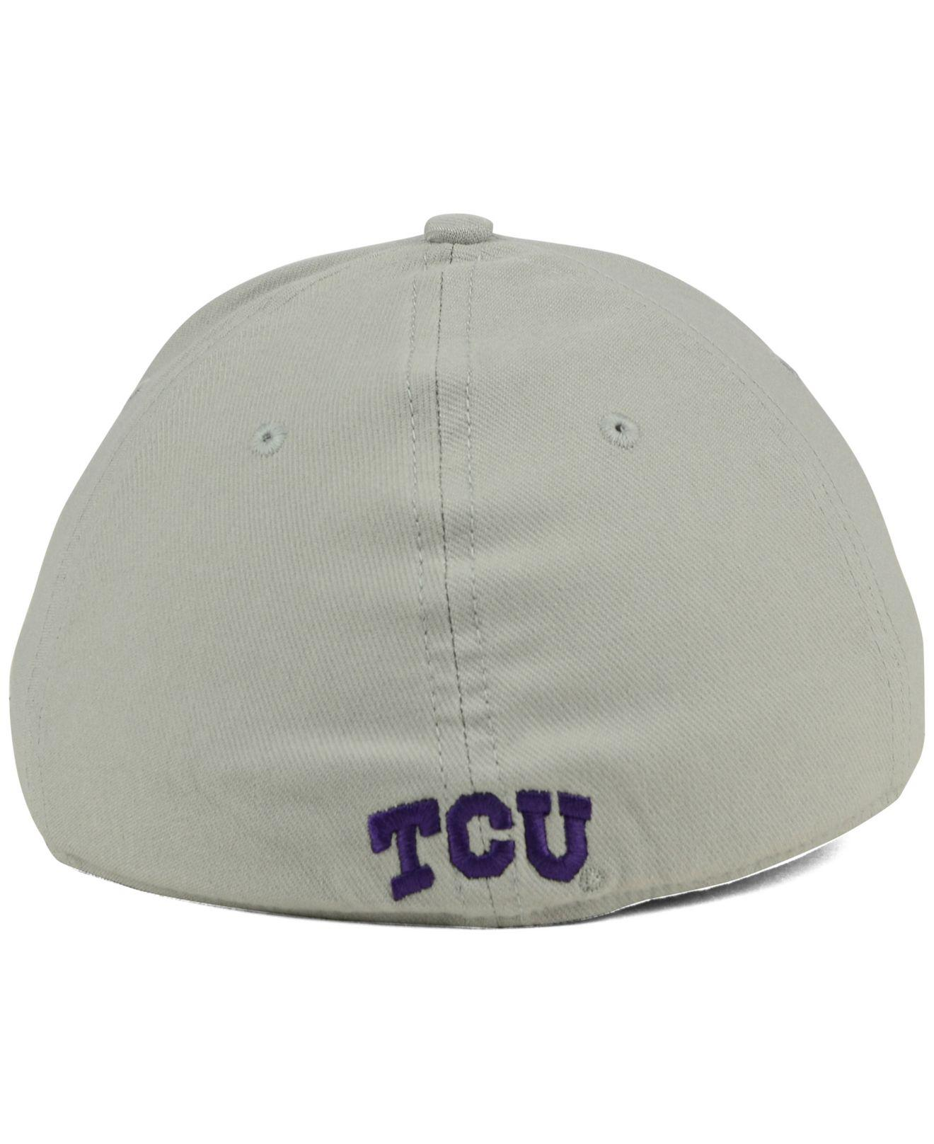 uk availability e2fc6 cb833 ... coupon code for nike gray tcu horned frogs classic swoosh cap for men  lyst. view
