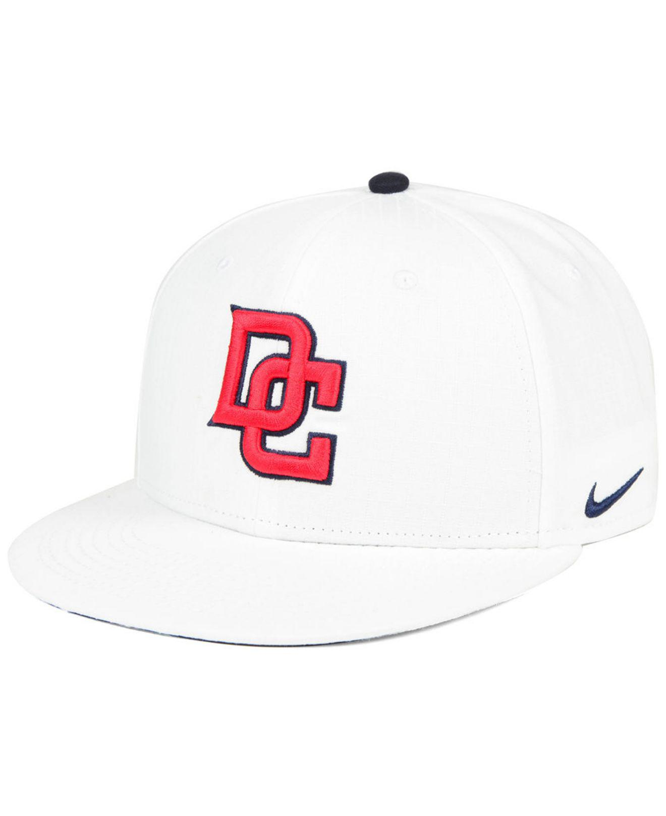 308150d6 Lyst - Nike Washington Nationals White Ripstop Snapback Cap in White ...