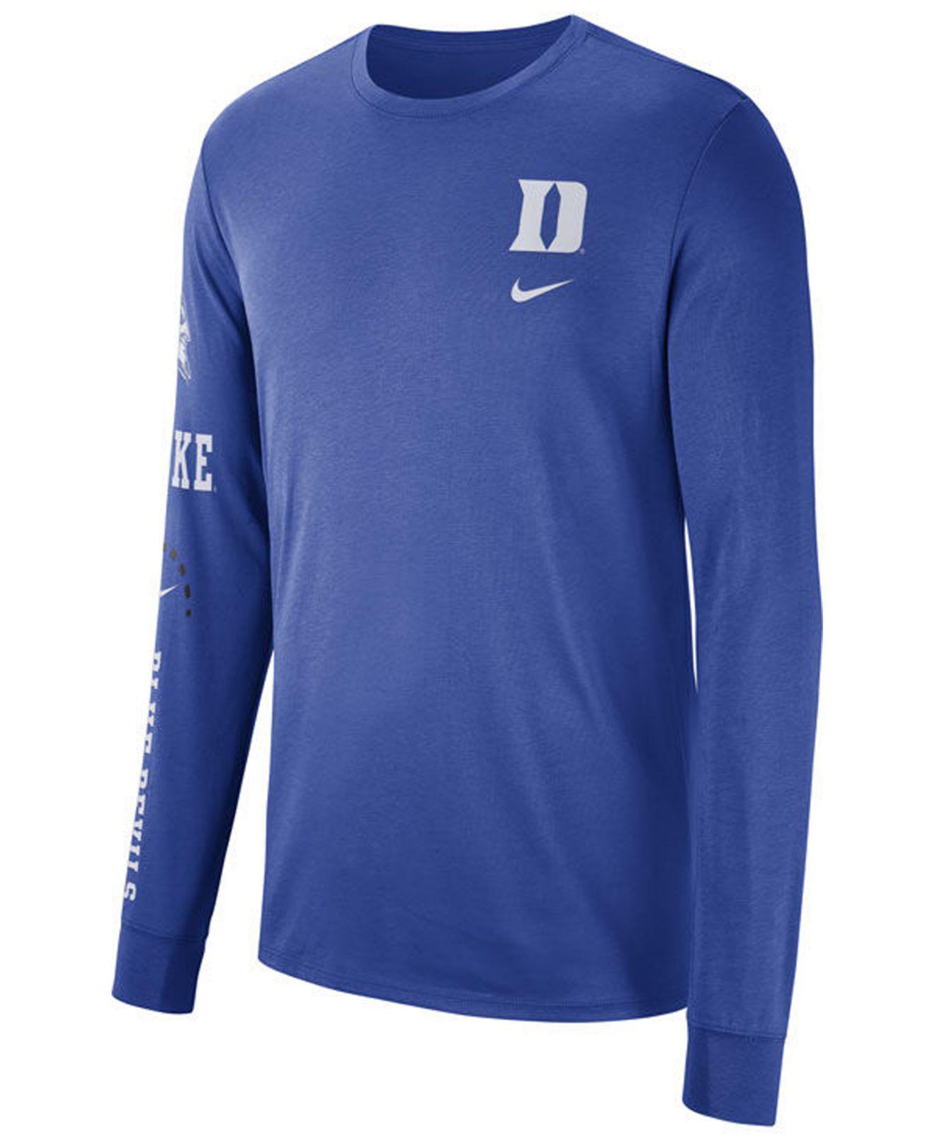 492d628b Lyst - Nike Duke Blue Devils Long Sleeve Basketball T-shirt in Blue ...