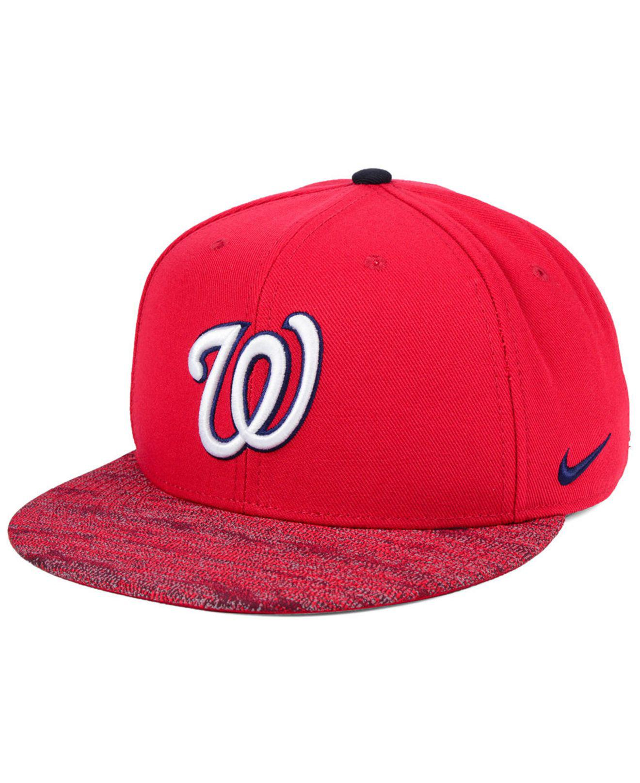 new style 683f6 c8211 ... promo code for nike. mens red washington nationals reverse new day snapback  cap 1ab04 ff1c4