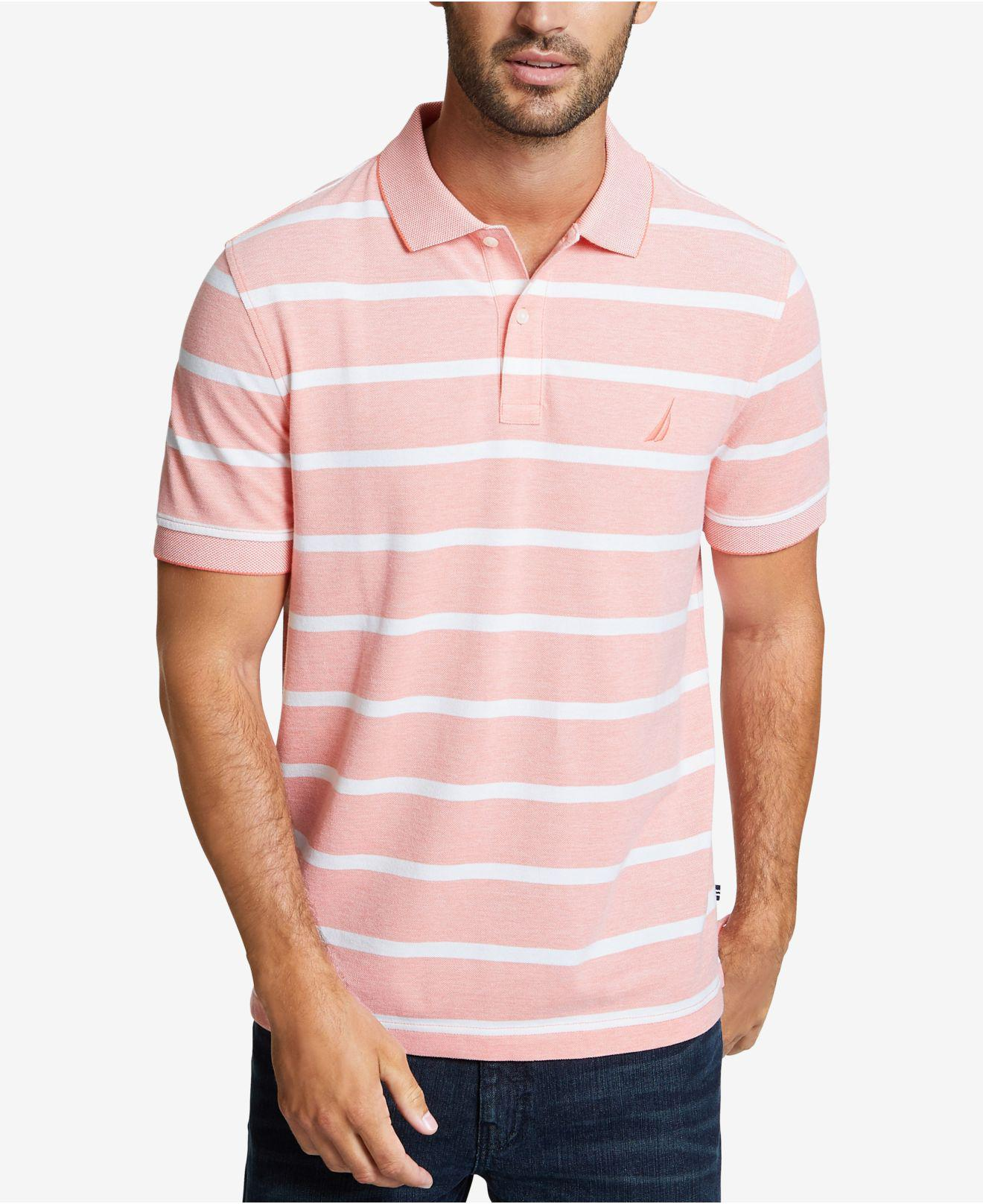 a2052e86 Lyst - Nautica Kailua Stripe Oxford Polo in Pink for Men - Save ...