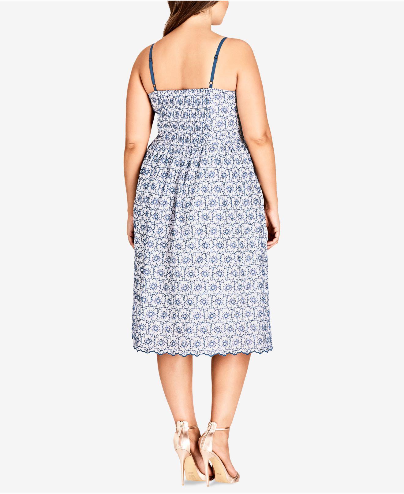 6e8caf931bc Lyst - City Chic Trendy Plus Size Cotton Fit   Flare Midi Dress