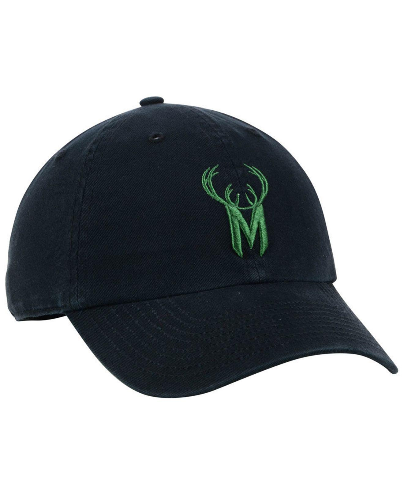 c4ede7ad426 Lyst - 47 Brand Milwaukee Bucks Mash Up Clean Up Cap in Black for Men