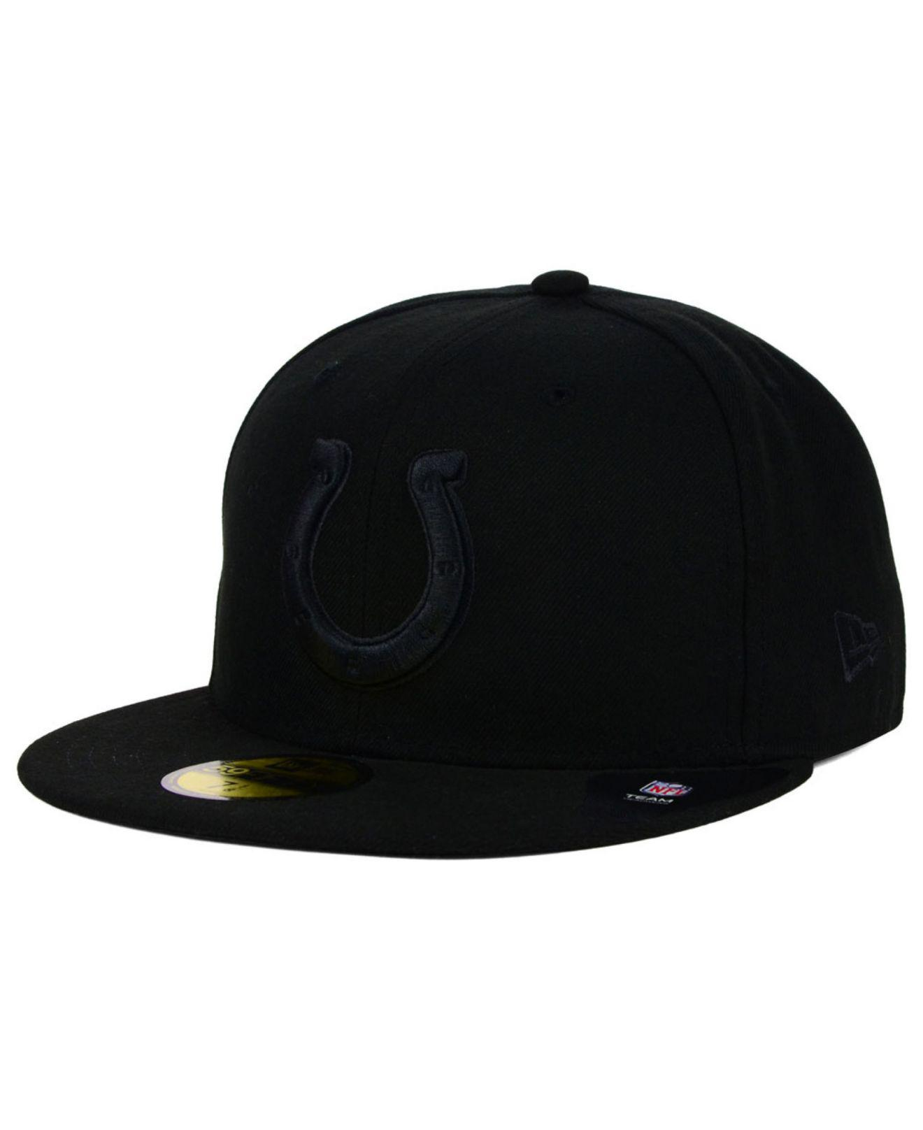 KTZ - Indianapolis Colts Black On Black 59fifty Cap for Men - Lyst. View  fullscreen 135dcda15