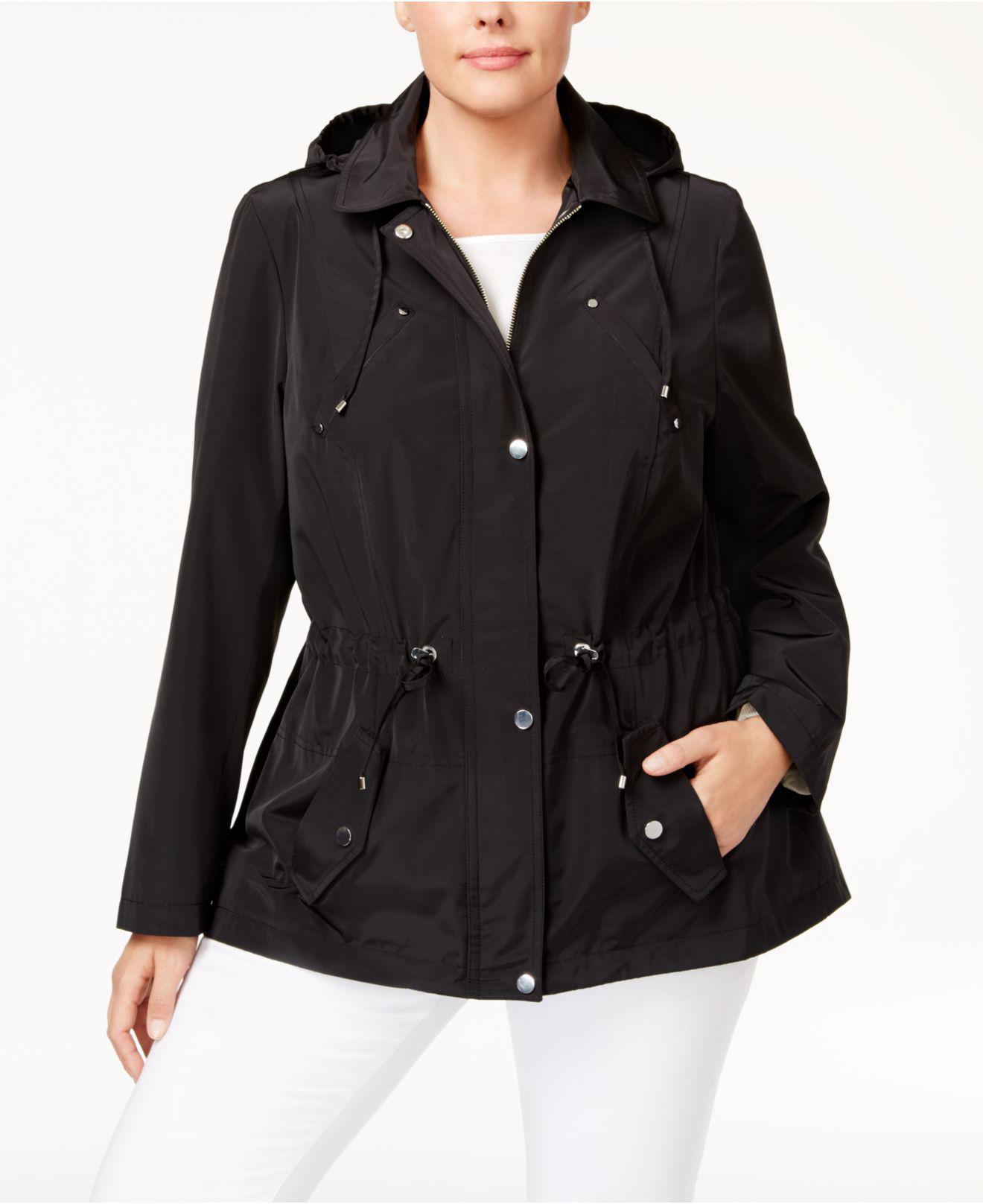 702ba85e4f1 Charter Club. Women s Black Plus Size Utility Jacket ...