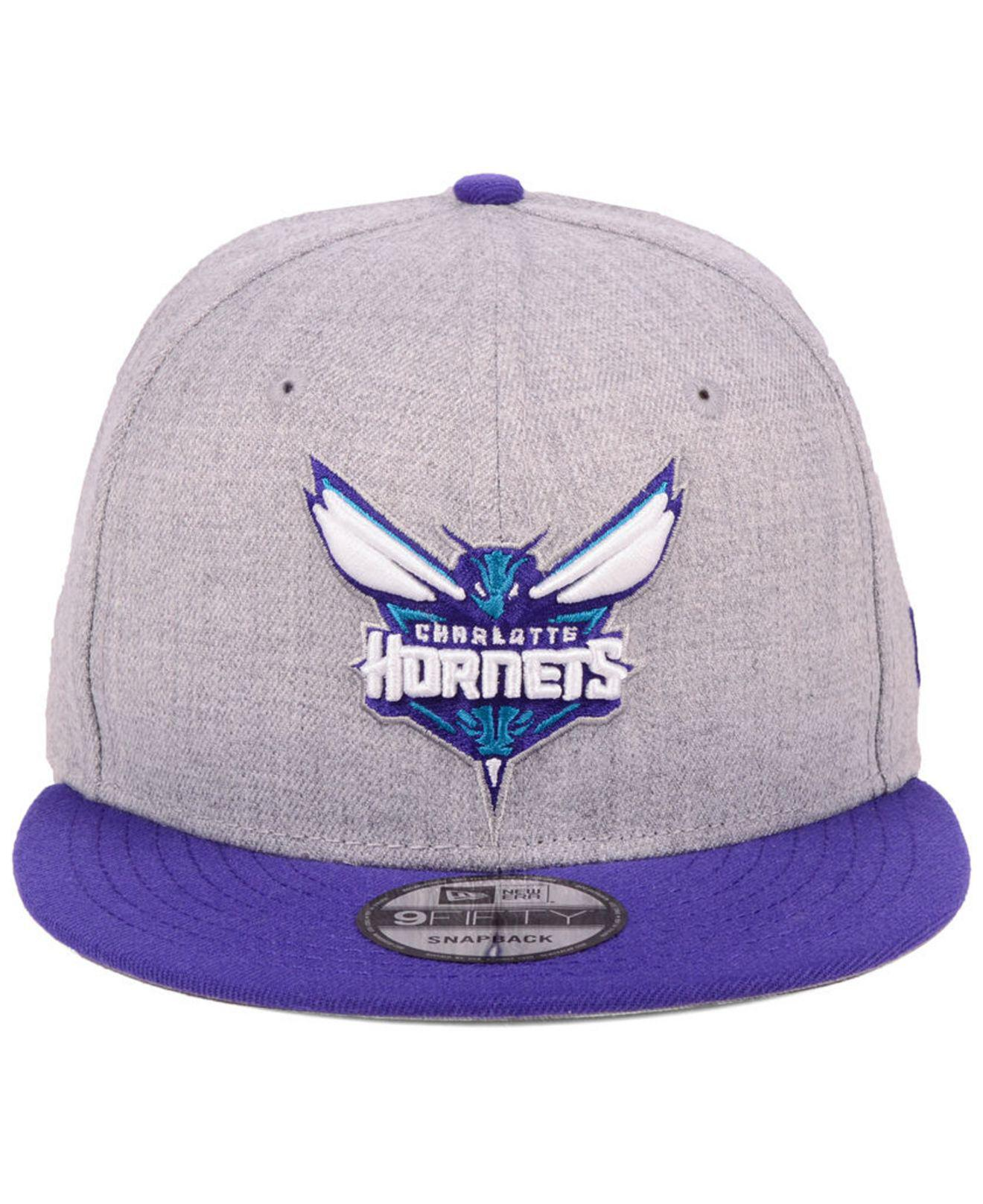 info for d3067 87ac2 ... promo code lyst ktz charlotte hornets heather gray 9fifty snapback cap  in purple for men dbae2
