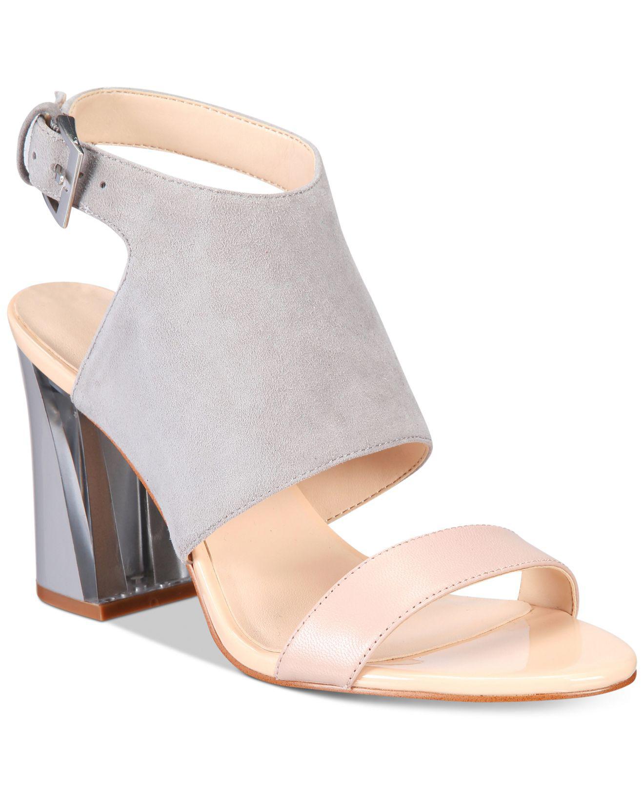 2acd0e4ac69 Lyst - Nine West Moshpit Block-heel Sandals