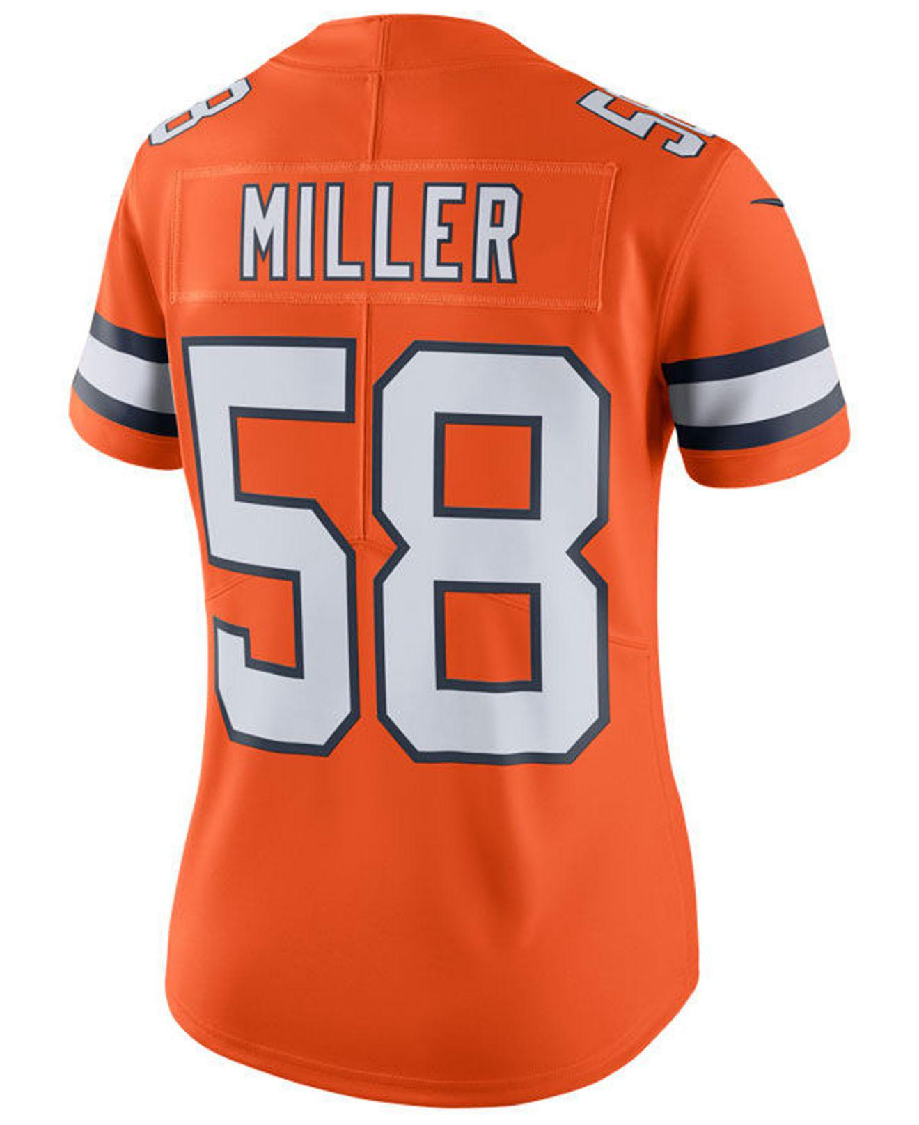 dfb8f4aa2 Nike. Women s Orange Von Miller Denver Broncos Color Rush Limited Jersey
