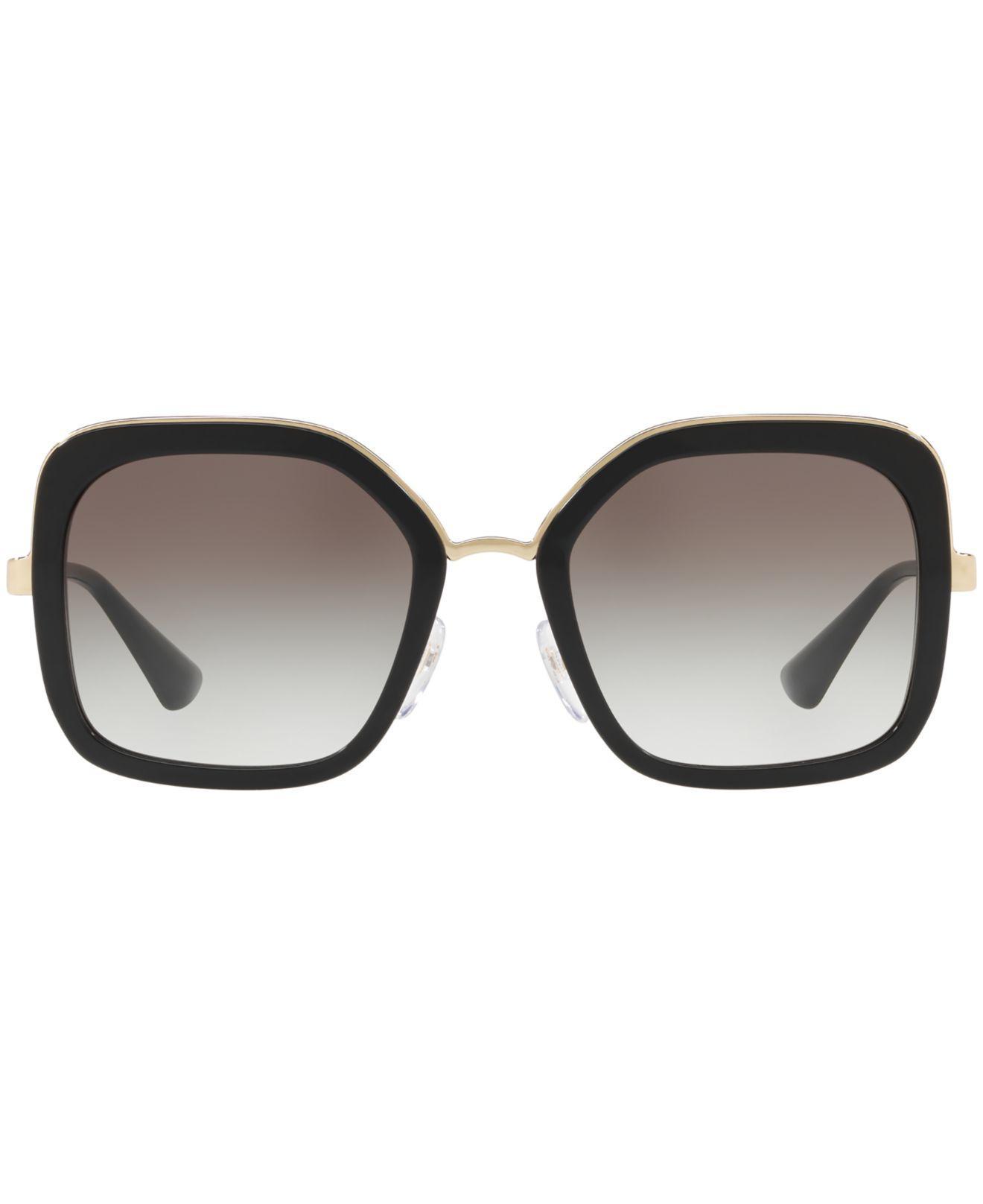 9eaf1048ef9f ... order lyst prada sunglasses pr 57us in black 882d5 a7507