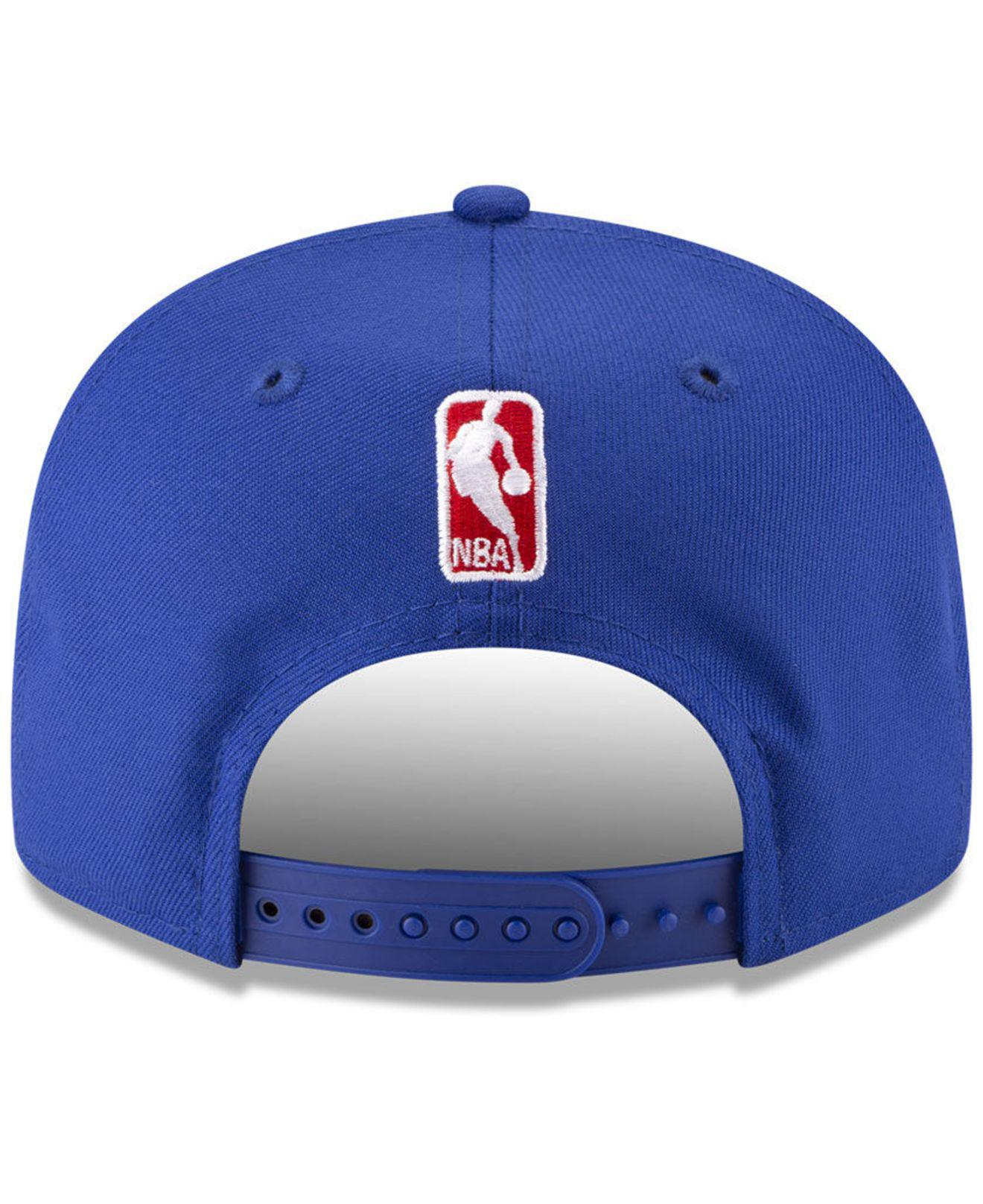 dd74b52874181 ... cheap lyst ktz philadelphia 76ers destroyer 9fifty snapback cap in blue  for men 4ef91 91e96