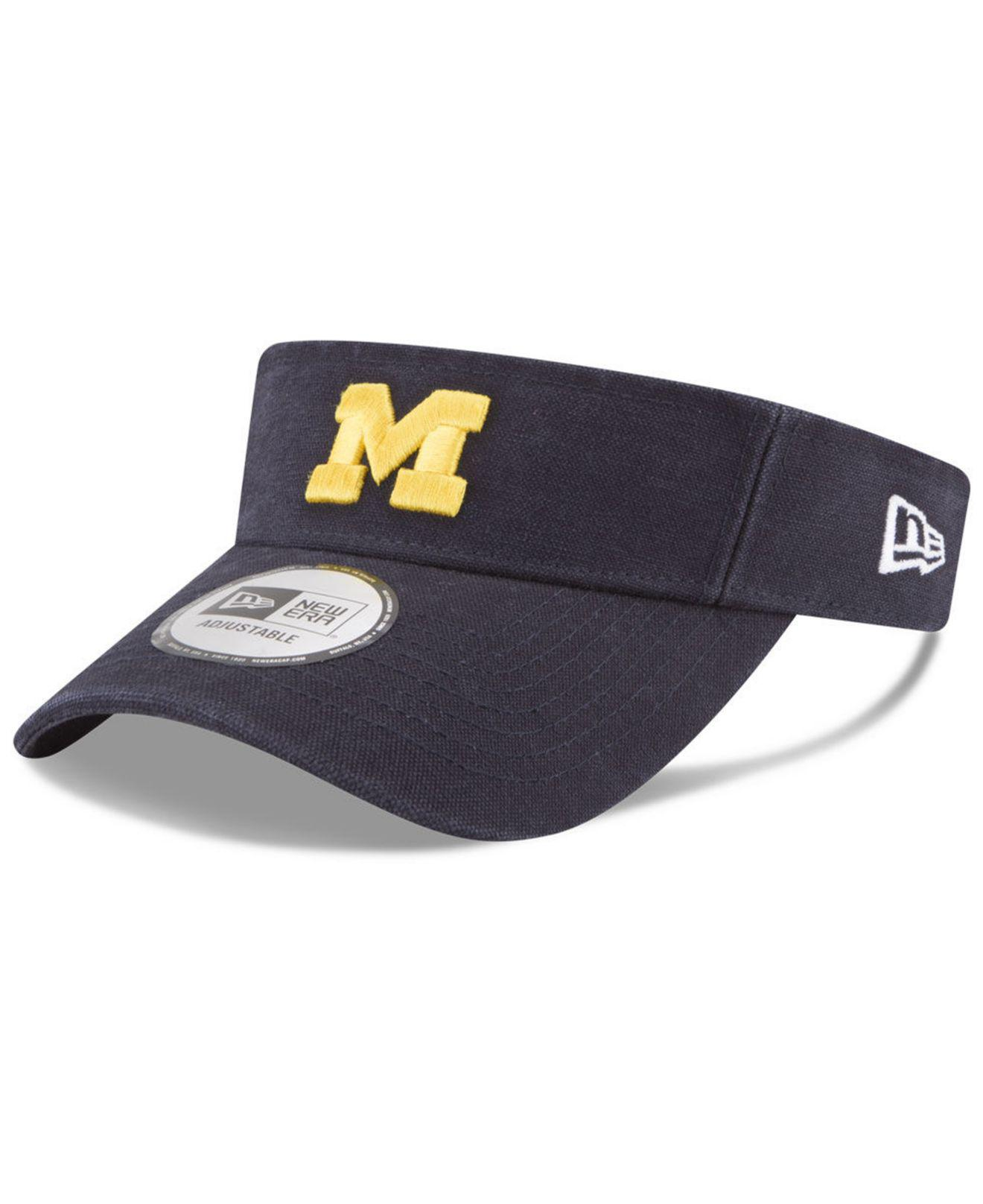 new arrival bfc65 ccd67 Lyst - KTZ Michigan Wolverines Dugout Redux Visor in Blue