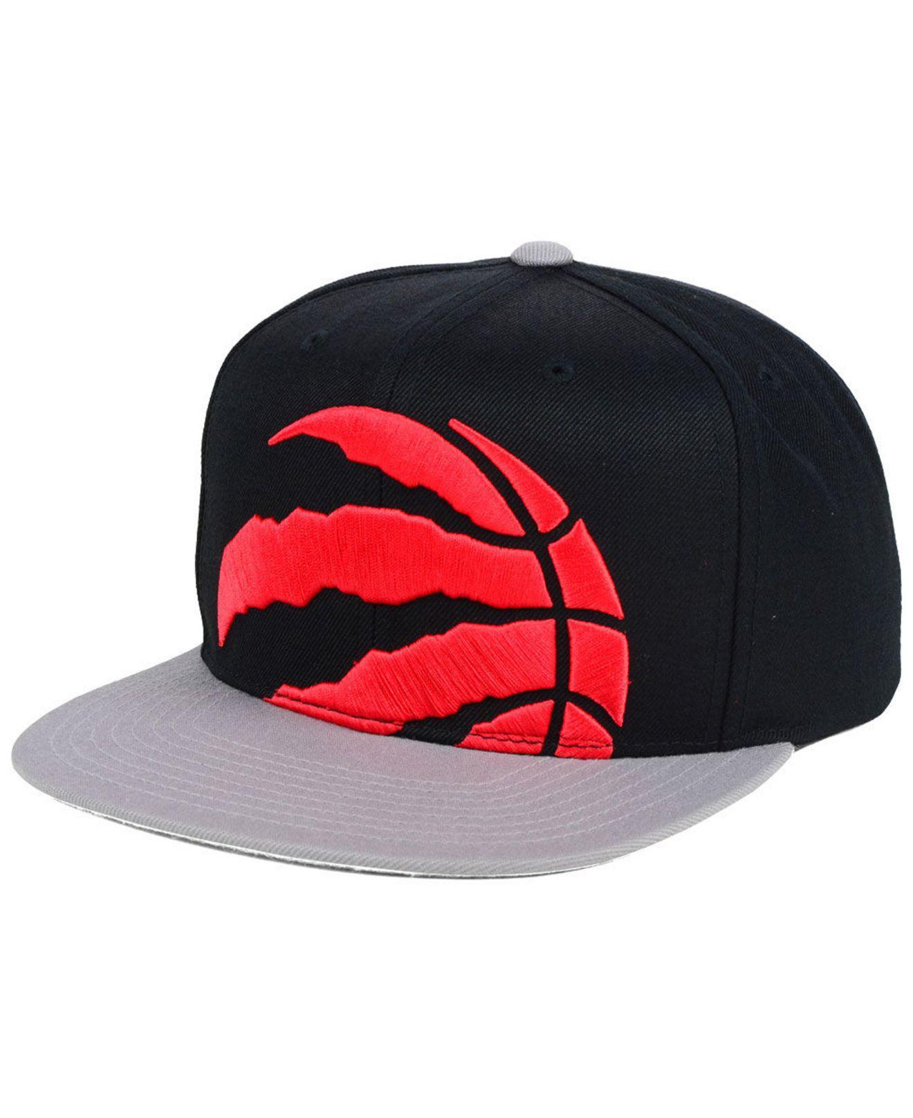 ffb17583f394aa Mitchell & Ness Toronto Raptors Cropped Xl Logo Snapback Cap for Men ...