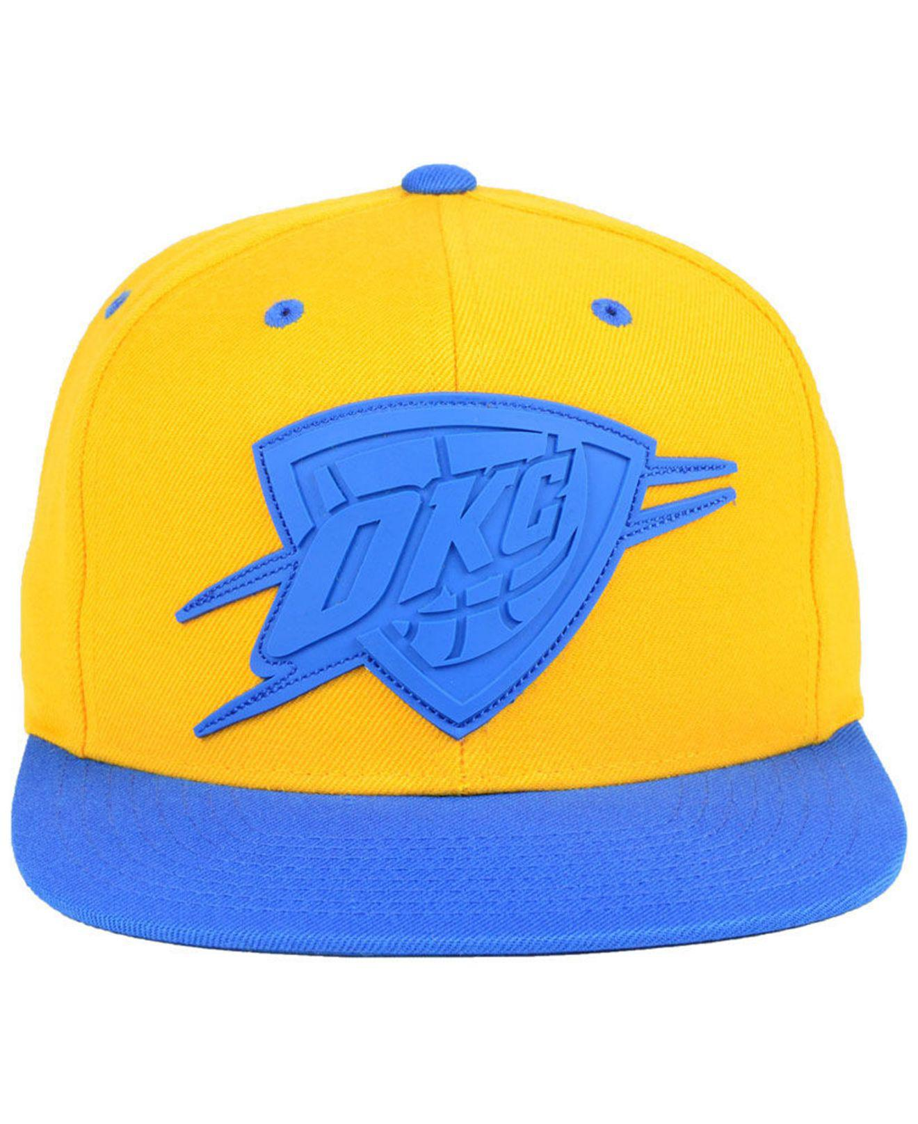 low priced 024f9 91090 ... denmark lyst mitchell ness oklahoma city thunder rubber weld snapback  c190d 9c634