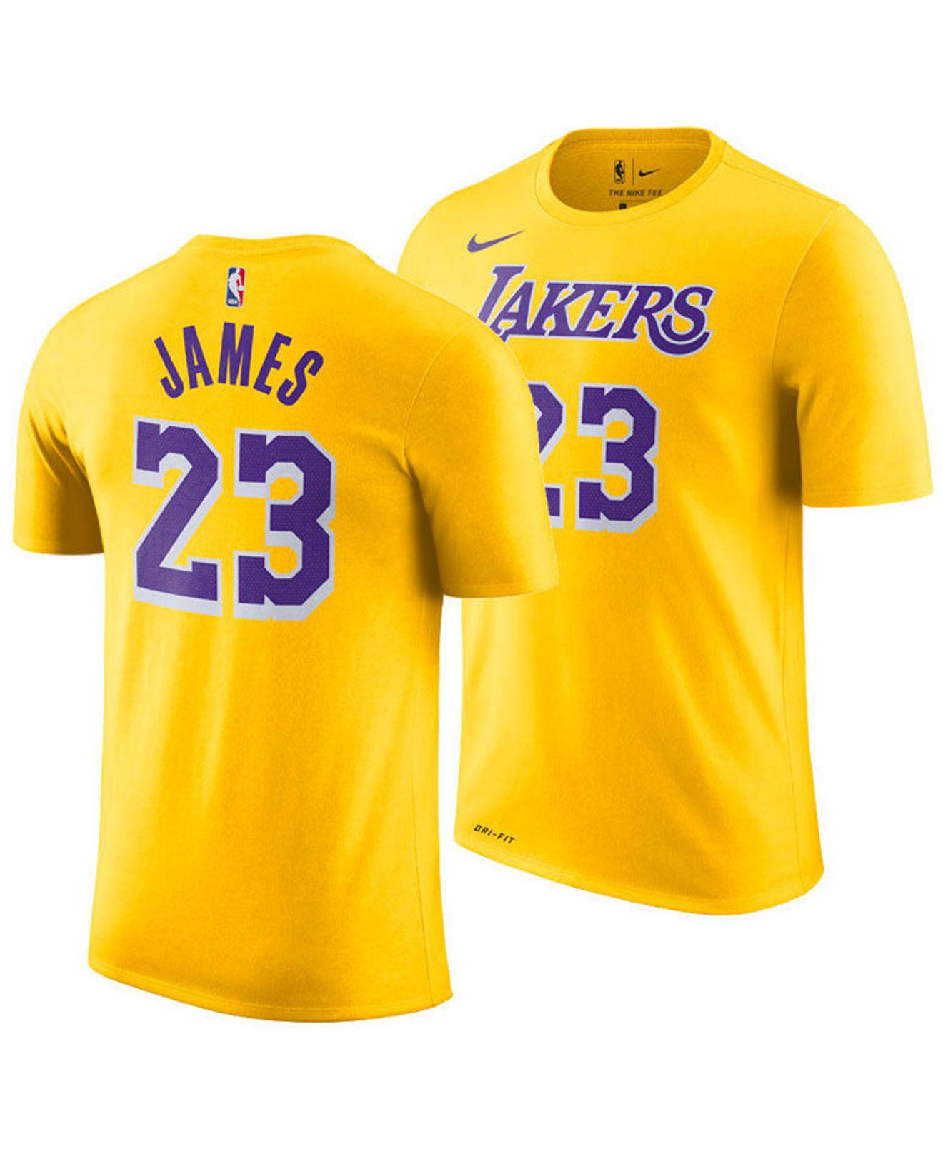 002f69097 Nike - Yellow Lebron James Los Angeles Lakers Icon Player T-shirt for Men  -. View fullscreen